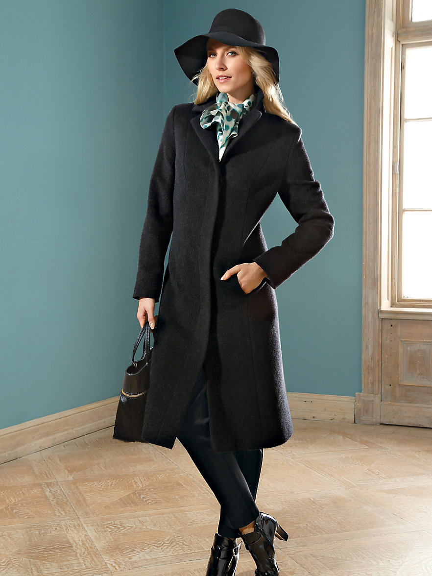 dames mantel zwart