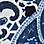 jeansblauw/wit-144048