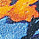 Blau/Orange-304306