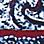 merensininen/monivärinen-929695