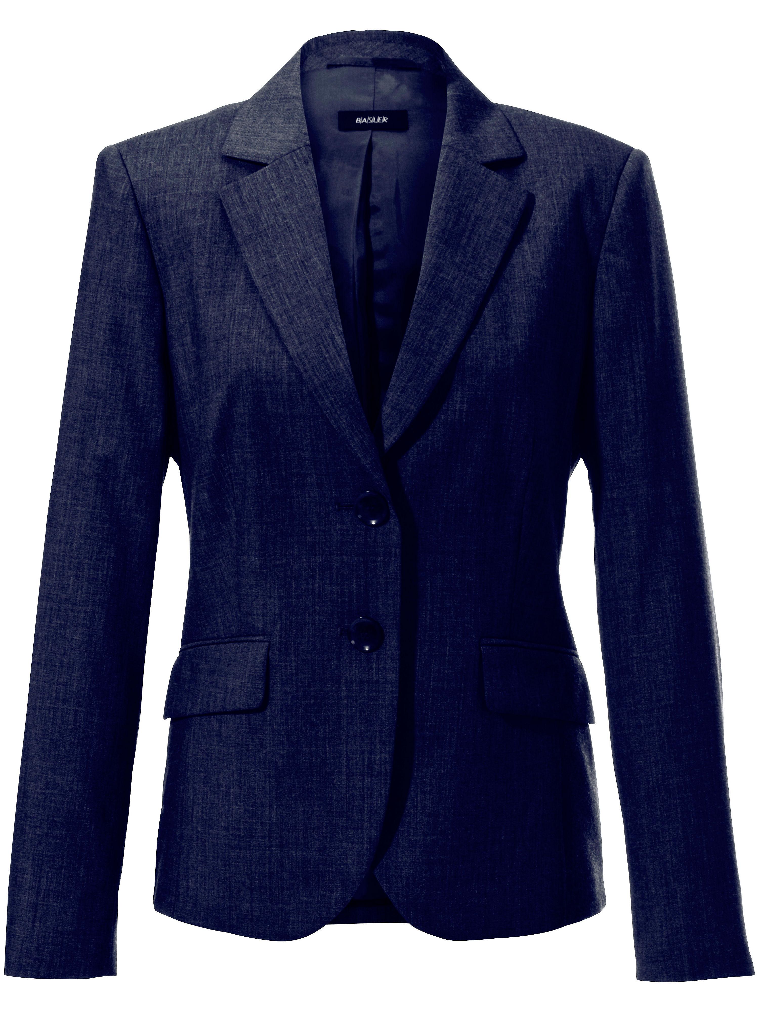 Image of   Blazer 100% ren ny uld Fra Basler blå