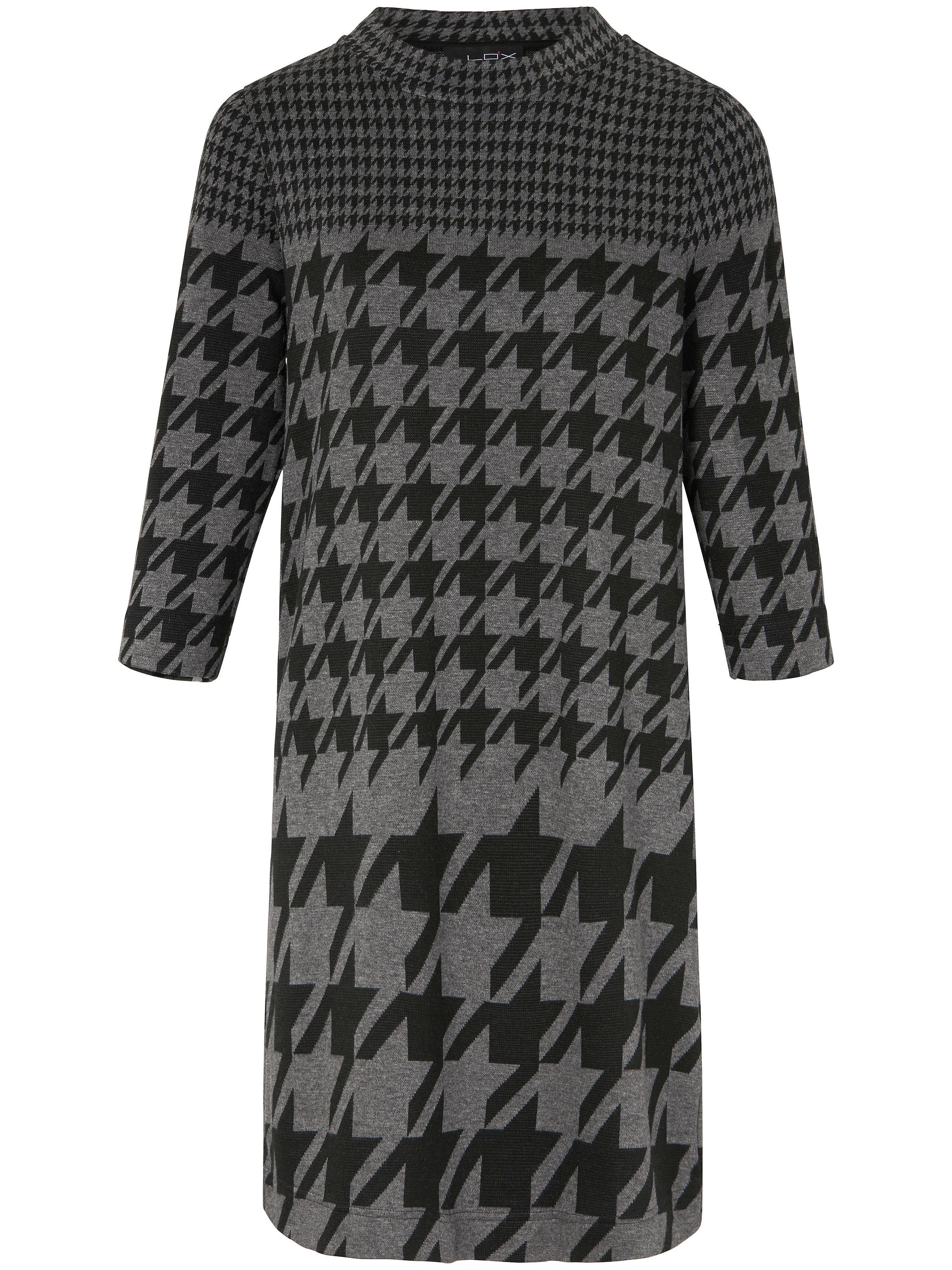 Image of Jerseyjurk met nieuw pied-de-pouledessin Van Looxent zwart