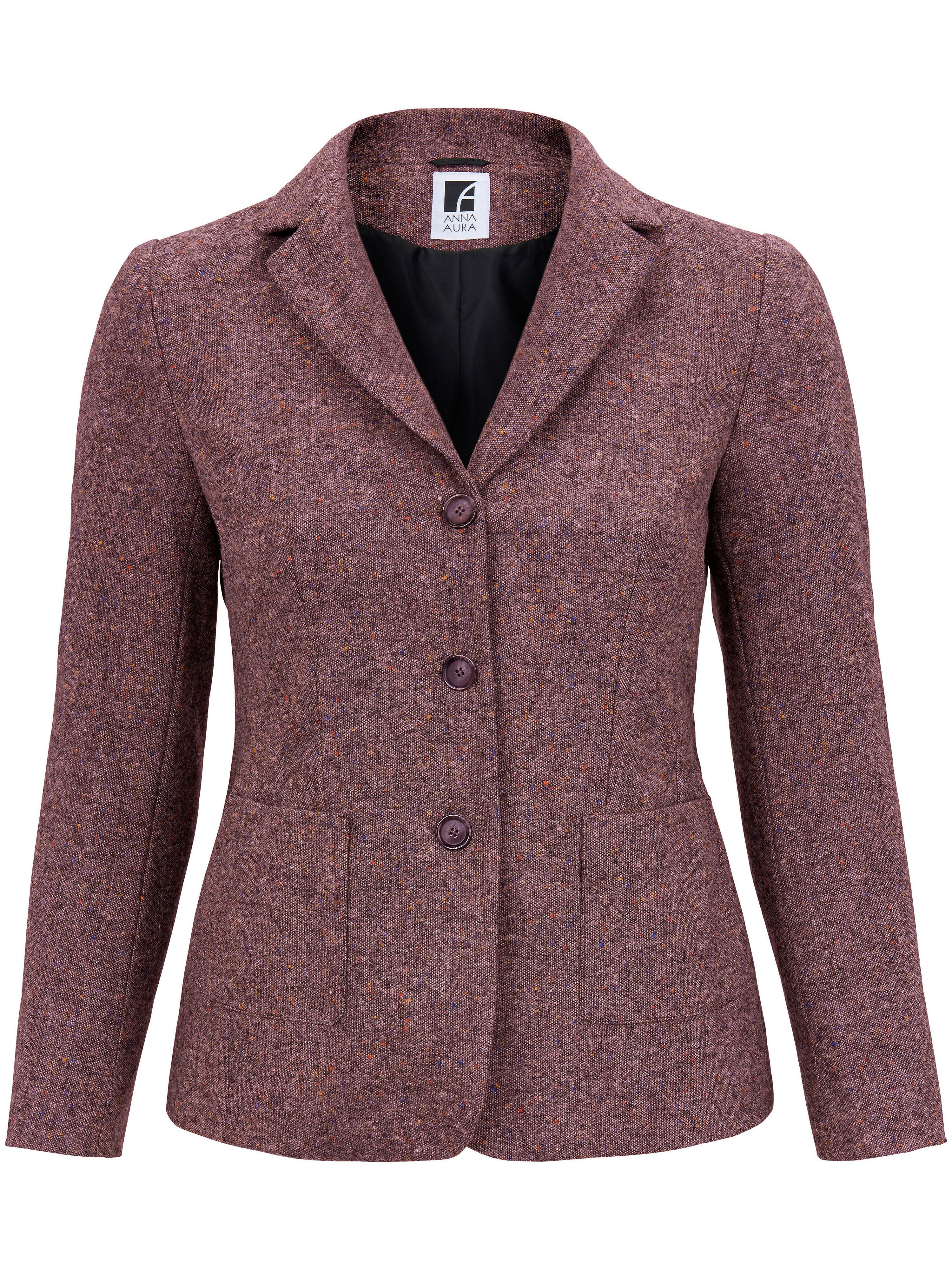 Image of   Blazer i 100% ren ny uld Fra Anna Aura pink