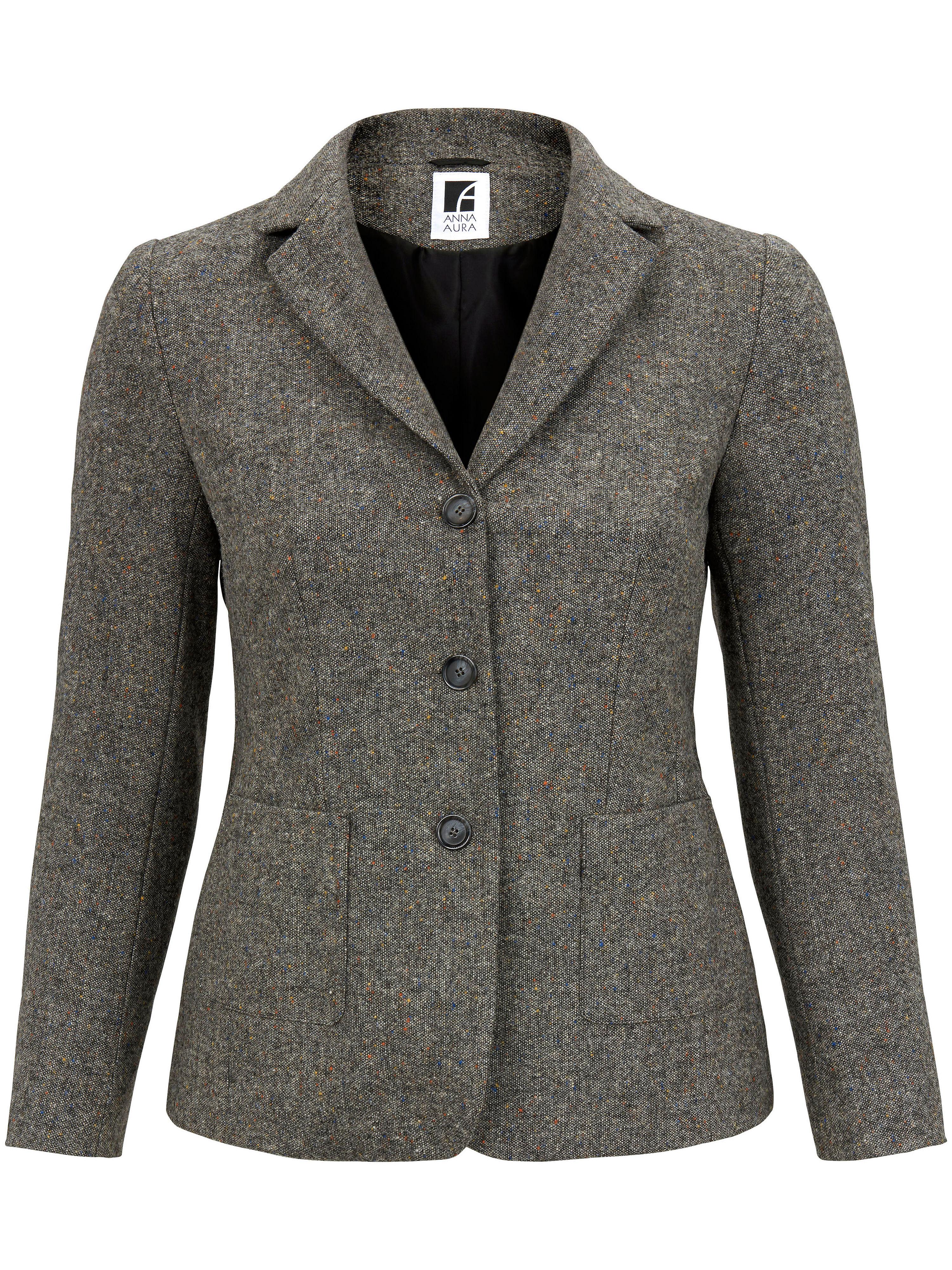 Image of   Blazer i 100% ren ny uld Fra Anna Aura sort