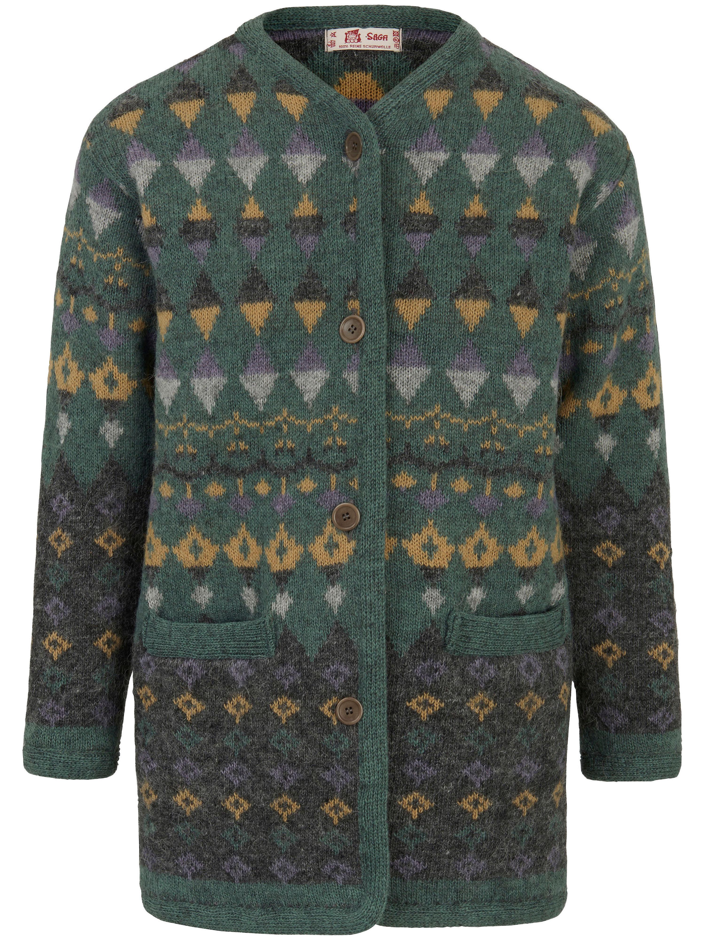 Image of   Jacquardjakke i 100% ren ny uld Fra SAGA multicolor