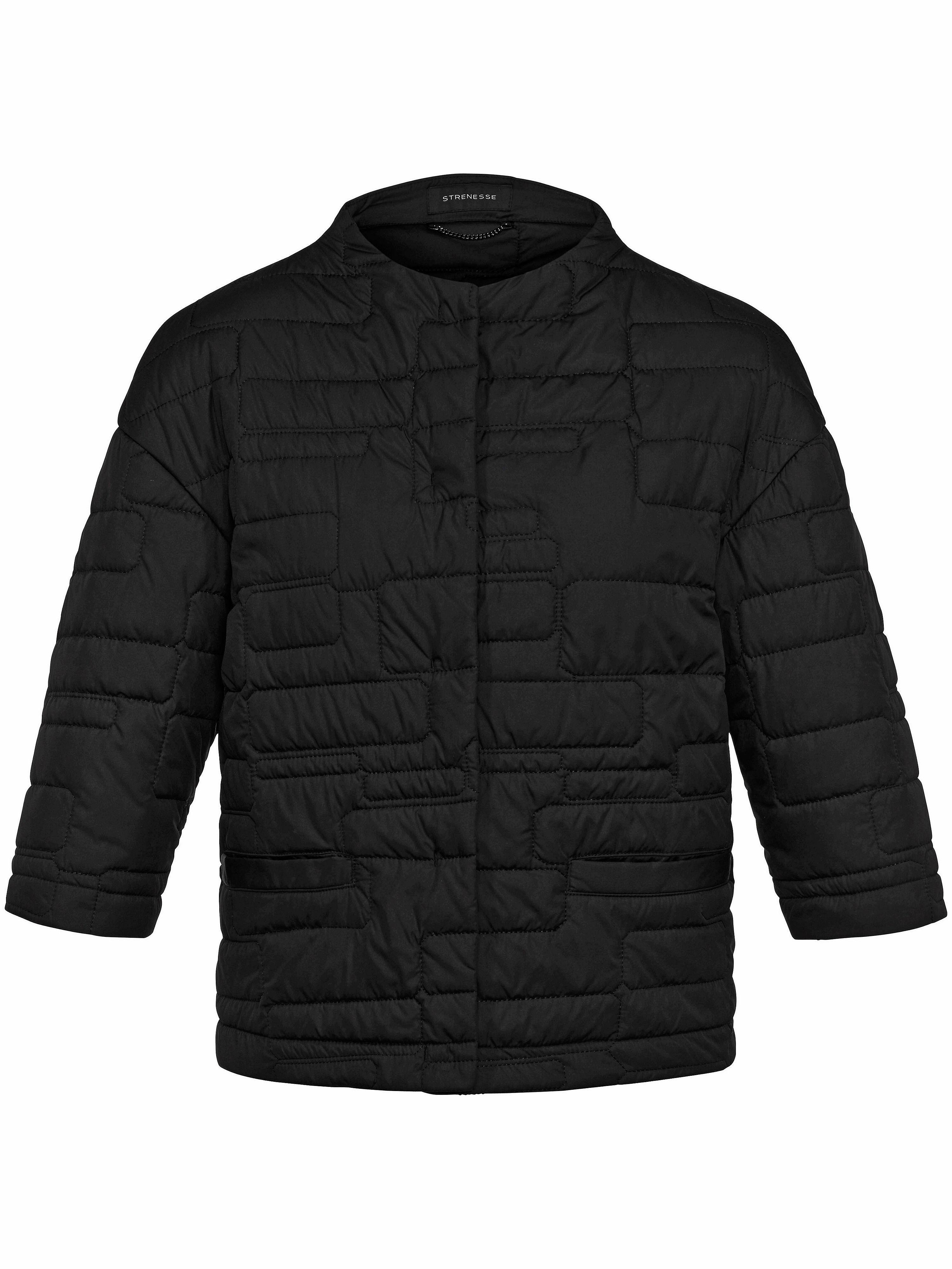 01c21ce9aec Quiltet jakke 3/4-ærmer Fra Strenesse sort