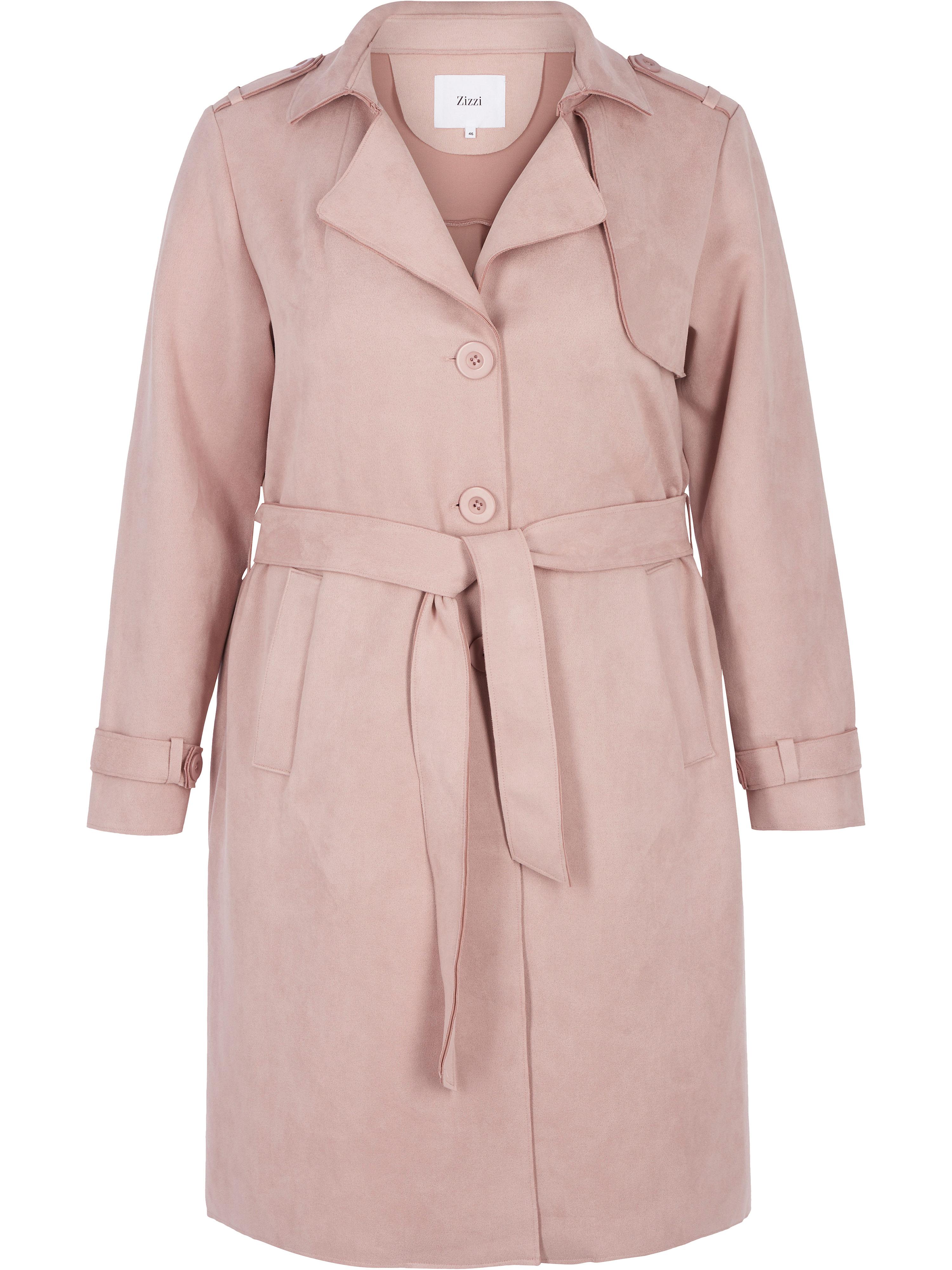 Trenchcoat zizzi rosé | Bekleidung > Mäntel > Trenchcoats | Ab | zizzi