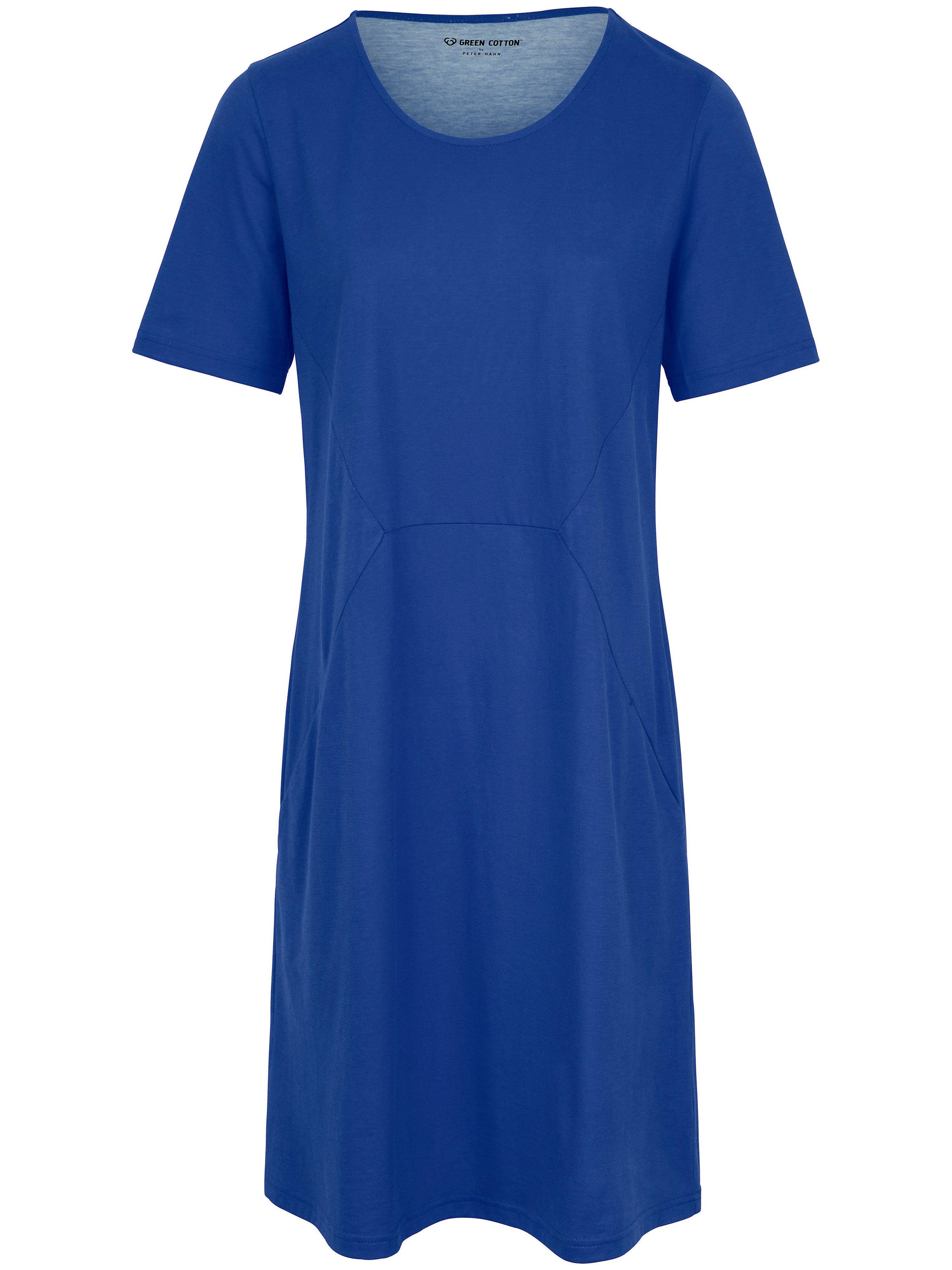 La robe jersey, manches courtes  Green Cotton bleu taille 40