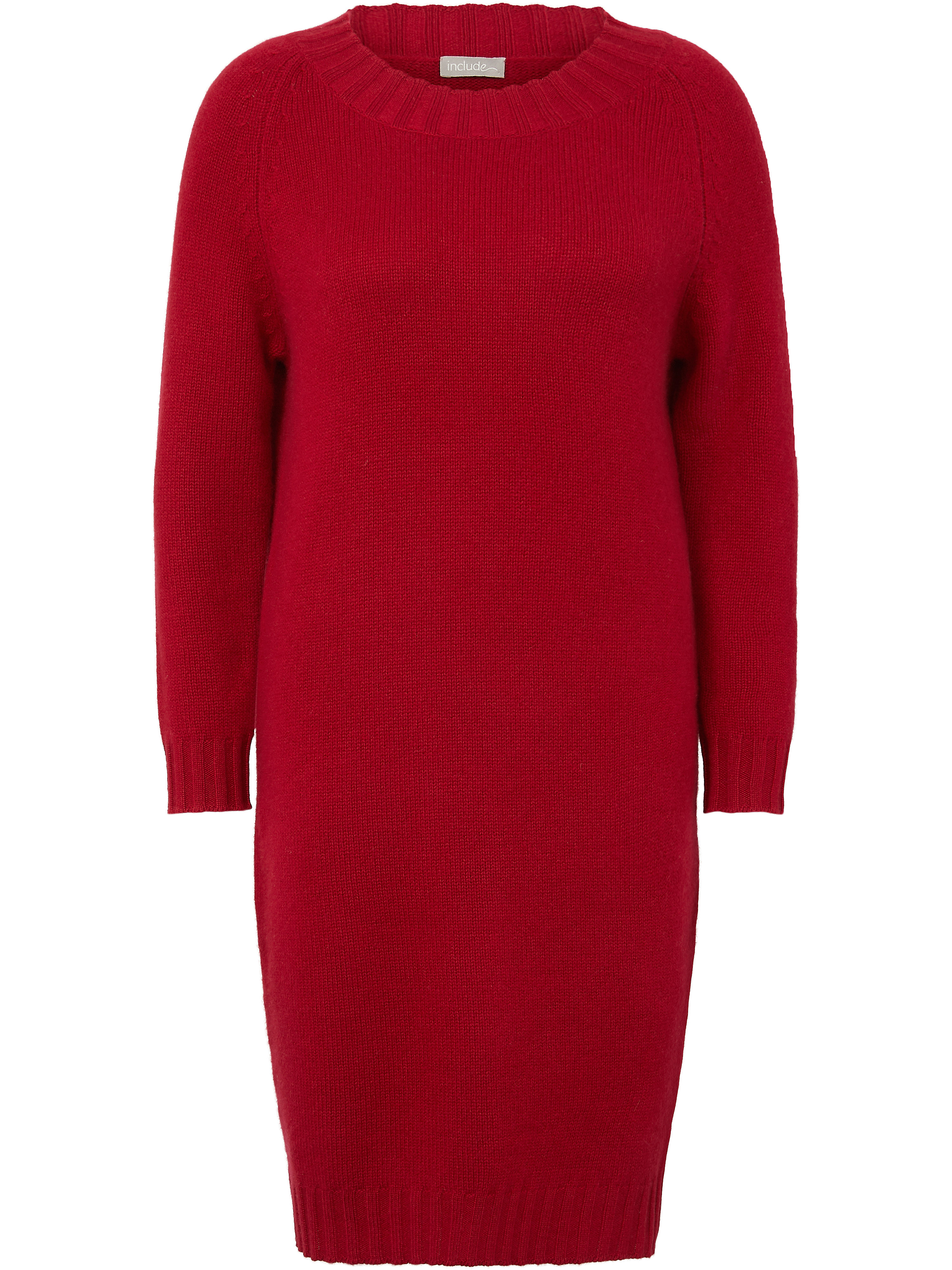 La robe maille 100% cachemire  include rouge taille 38
