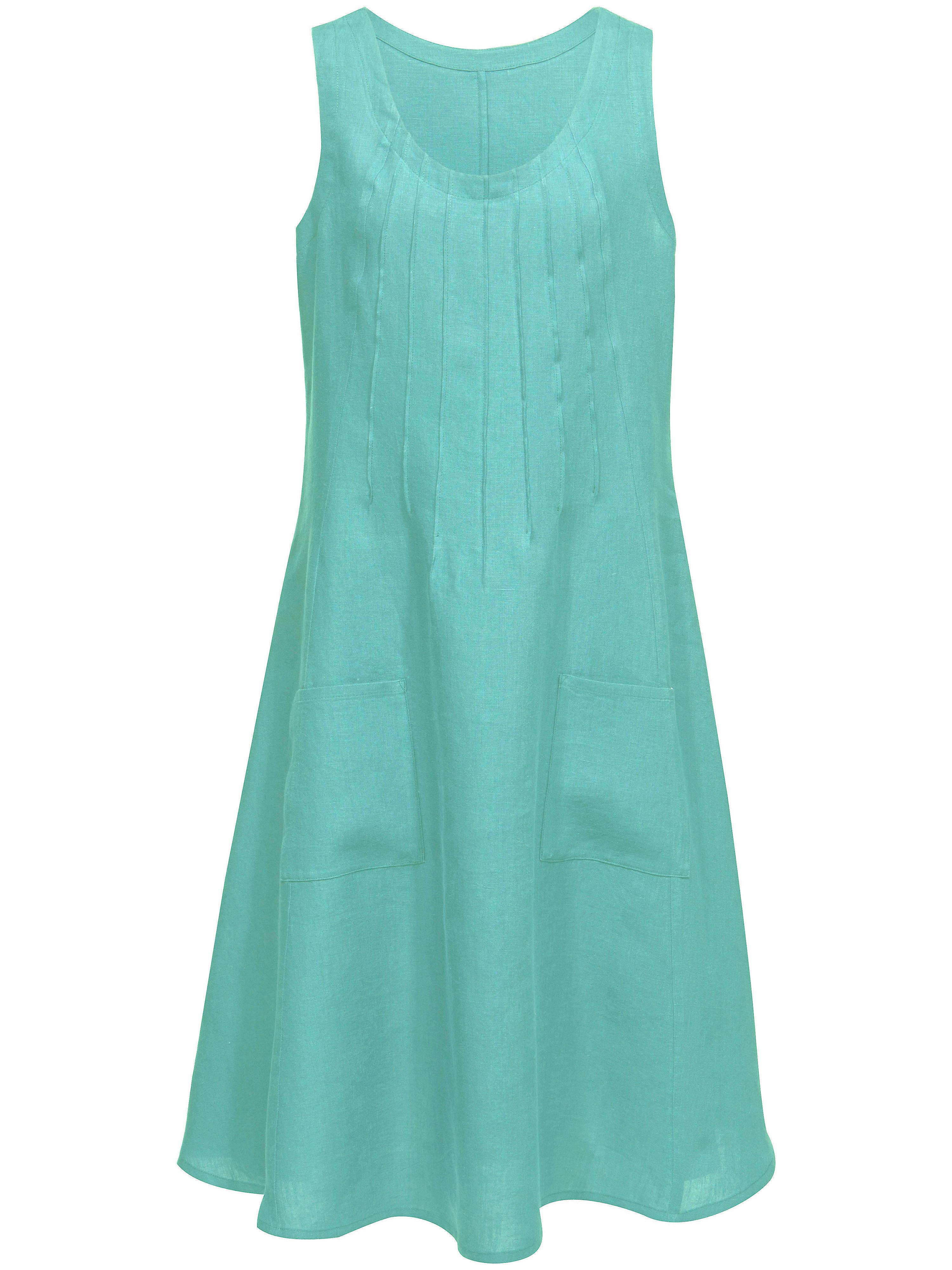 Image of Ärmelloses Kleid aus 100% Leinen Anna Aura türkis Größe: 21
