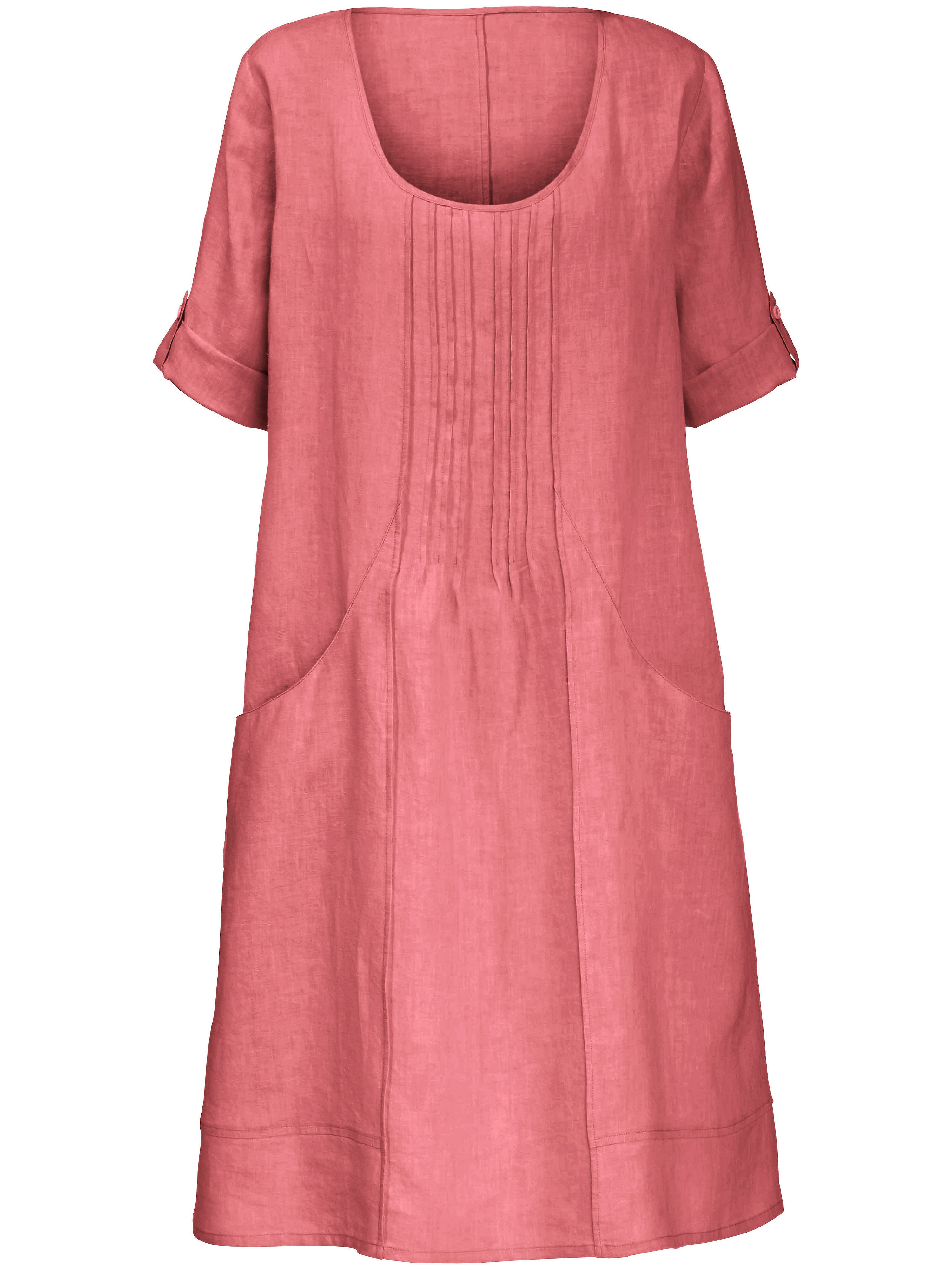 Anna Aura jurk met 3/4-mouwen rood