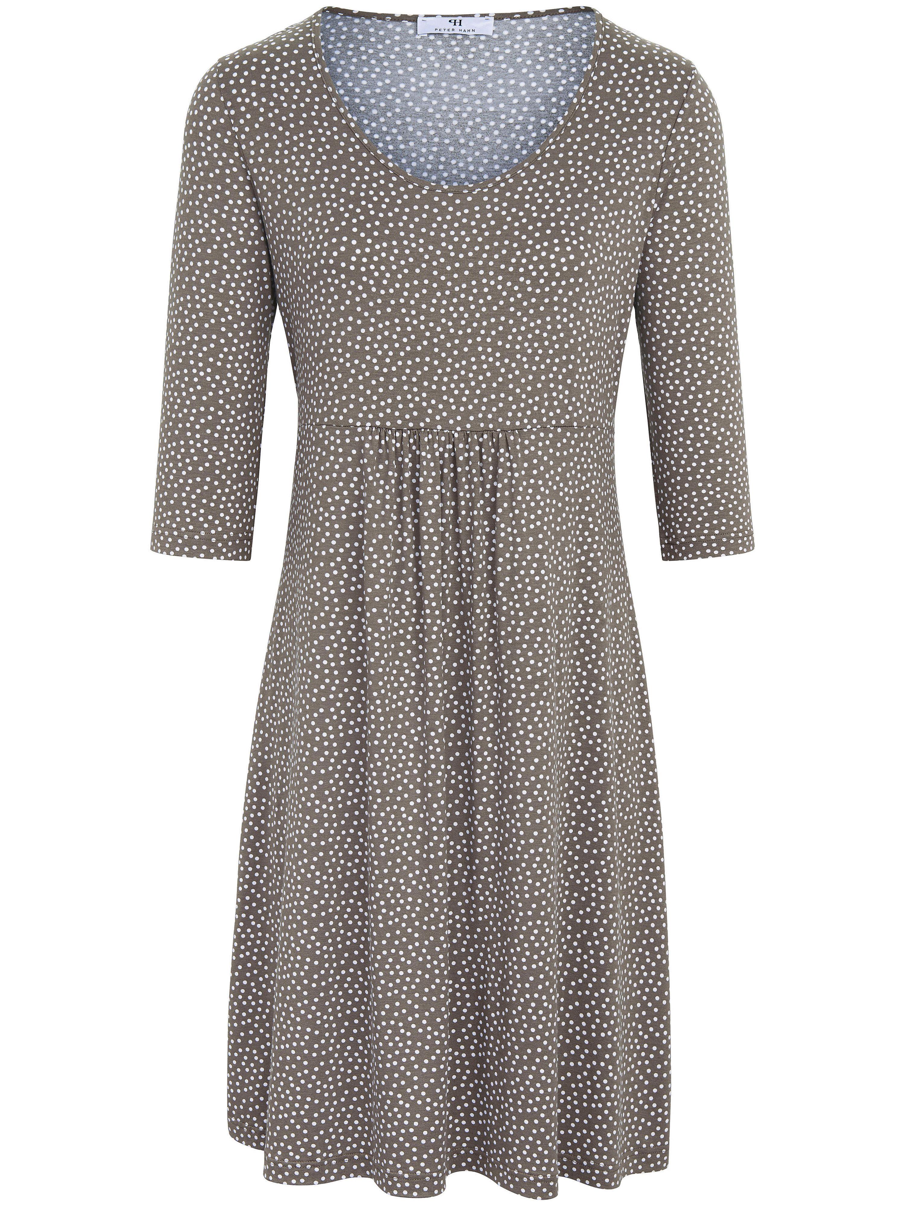 Peter Hahn jurk met 3/4-mouwen beige