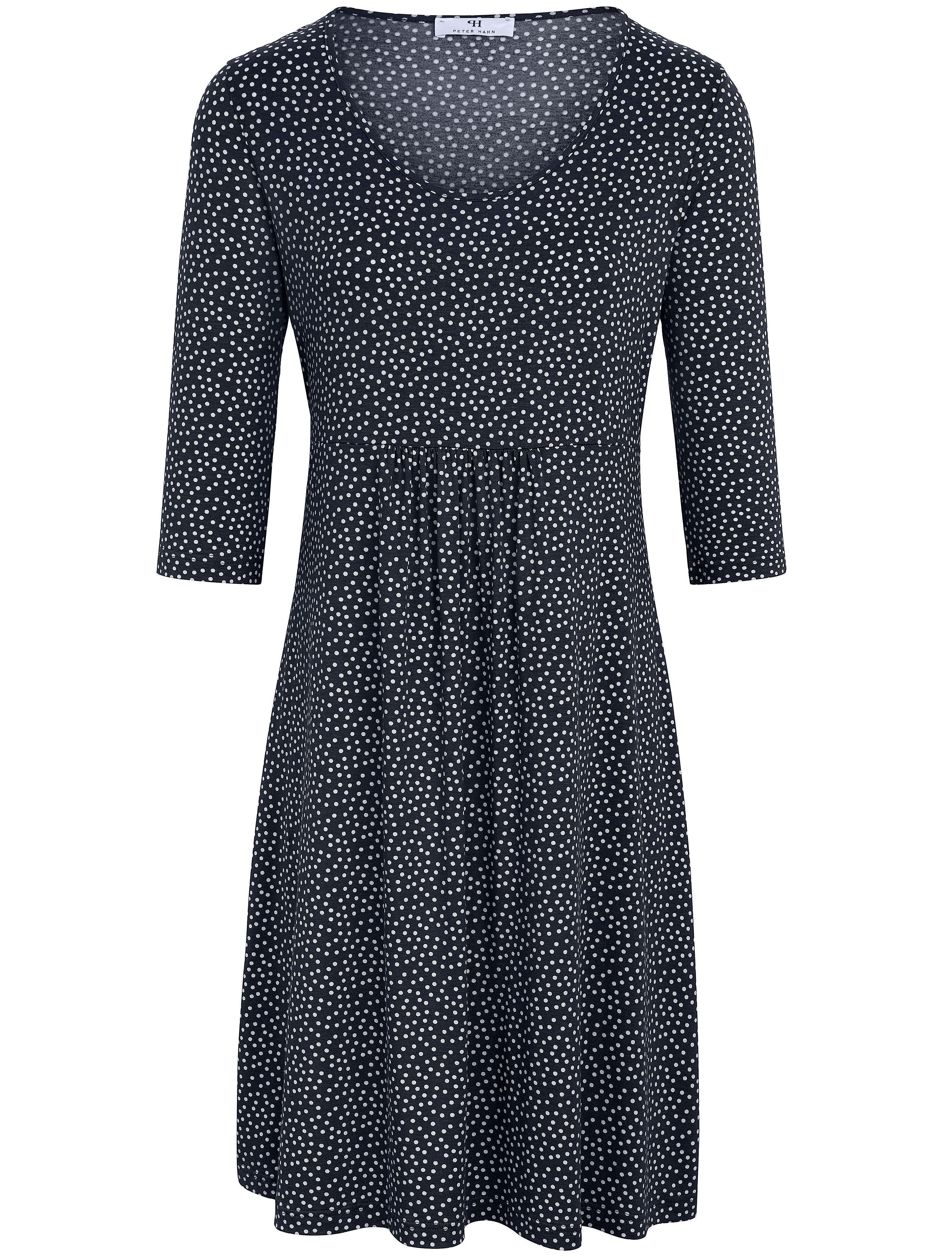 Peter Hahn jurk met 3/4-mouwen blauw
