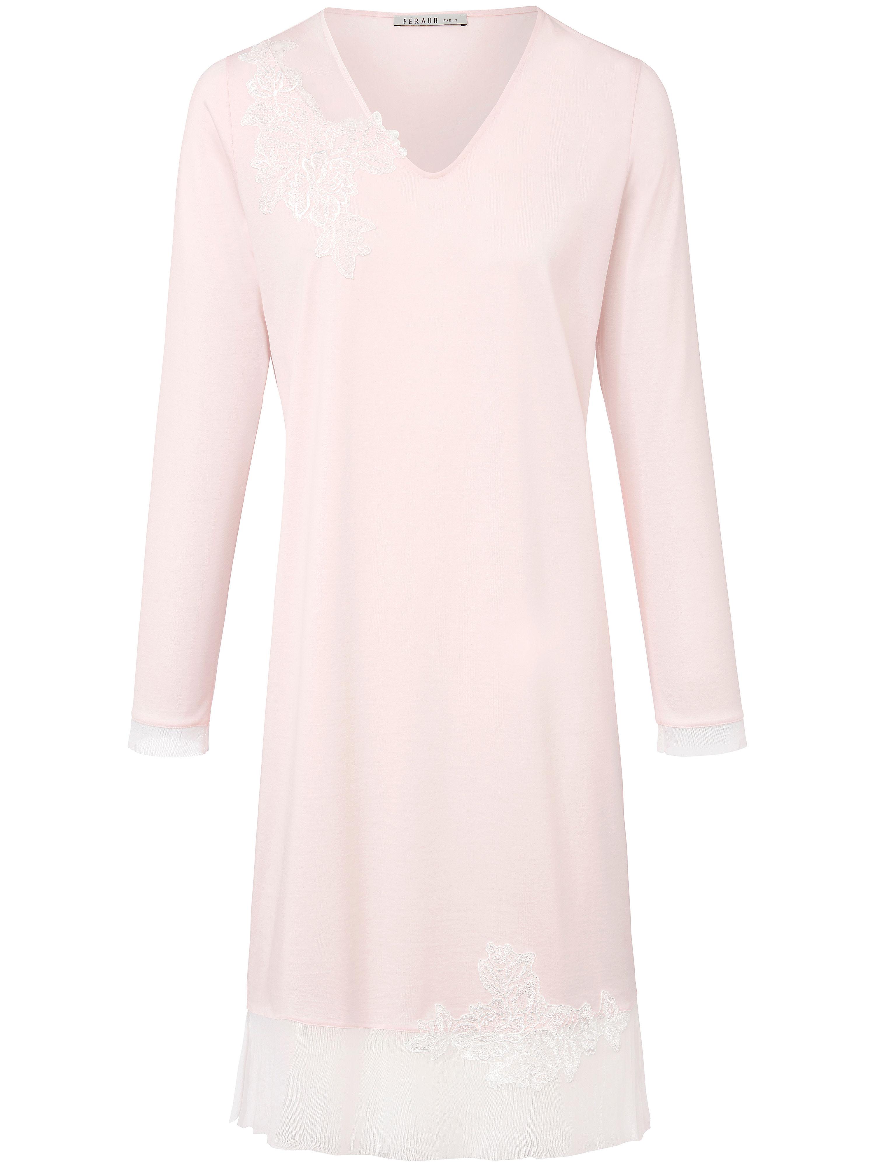 La chemise nuit 100% coton  Féraud rose