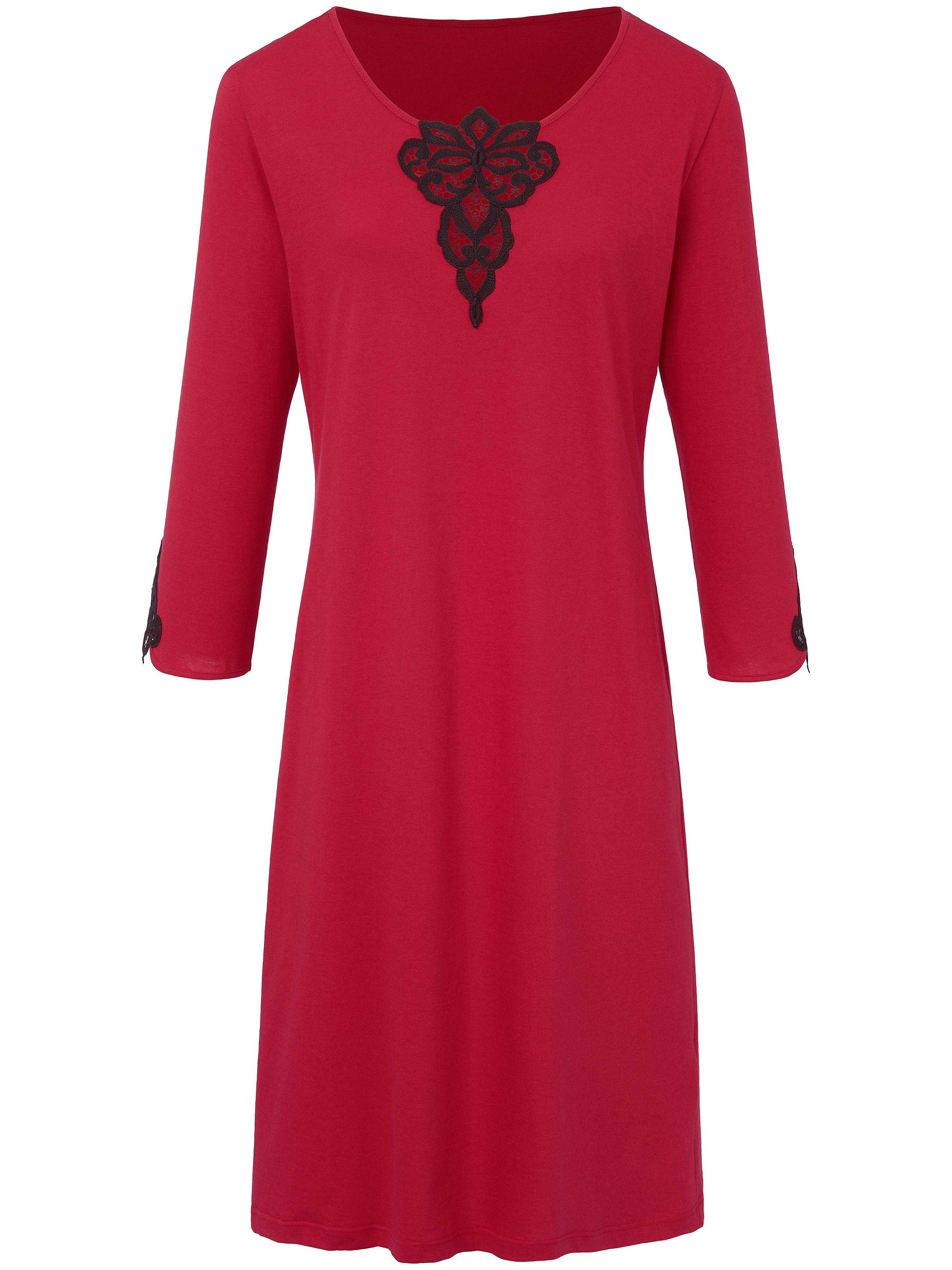 La chemise nuit 100% coton  Hautnah rouge taille 42