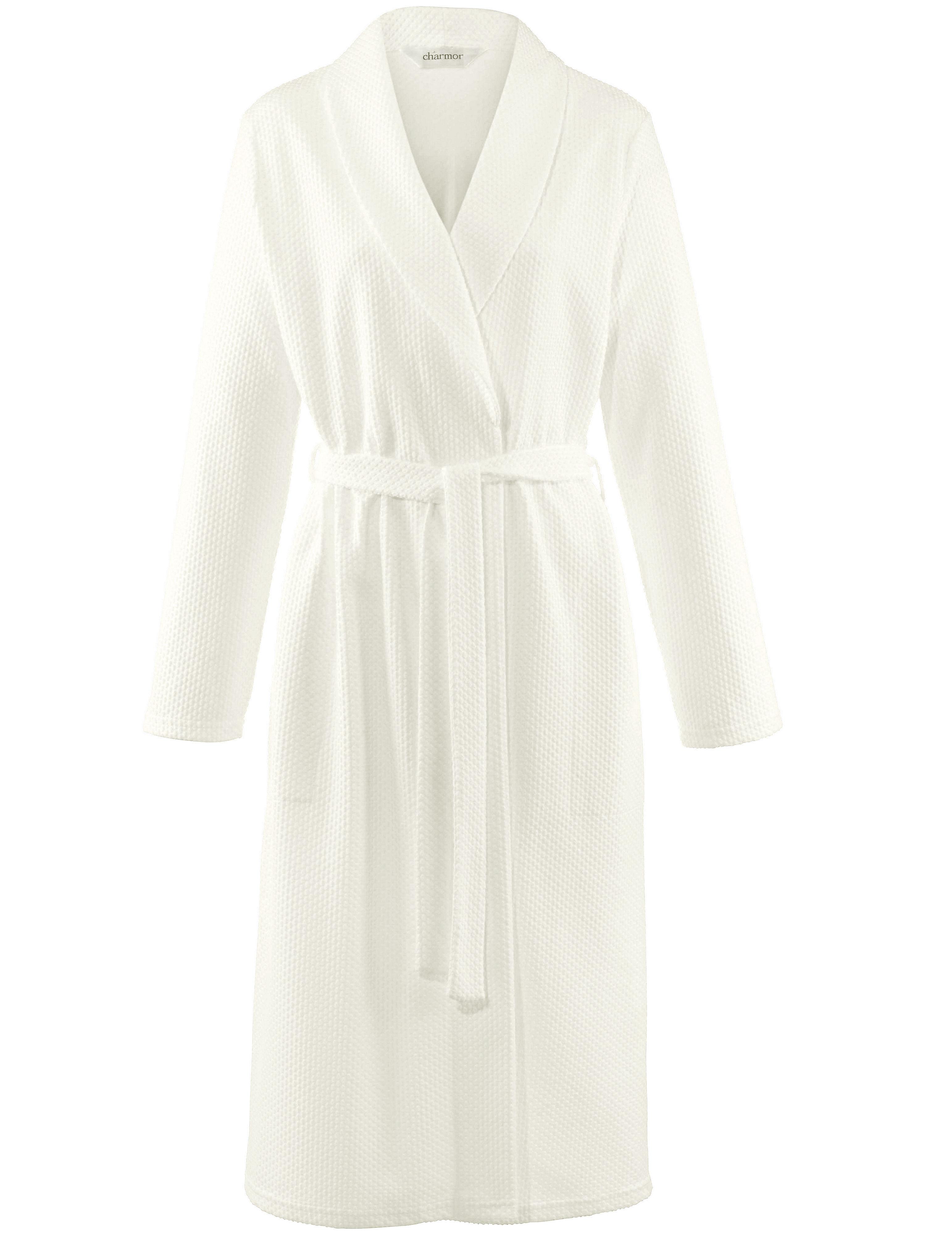 La robe chambre, col châle et ceinture à nouer  Charmor beige