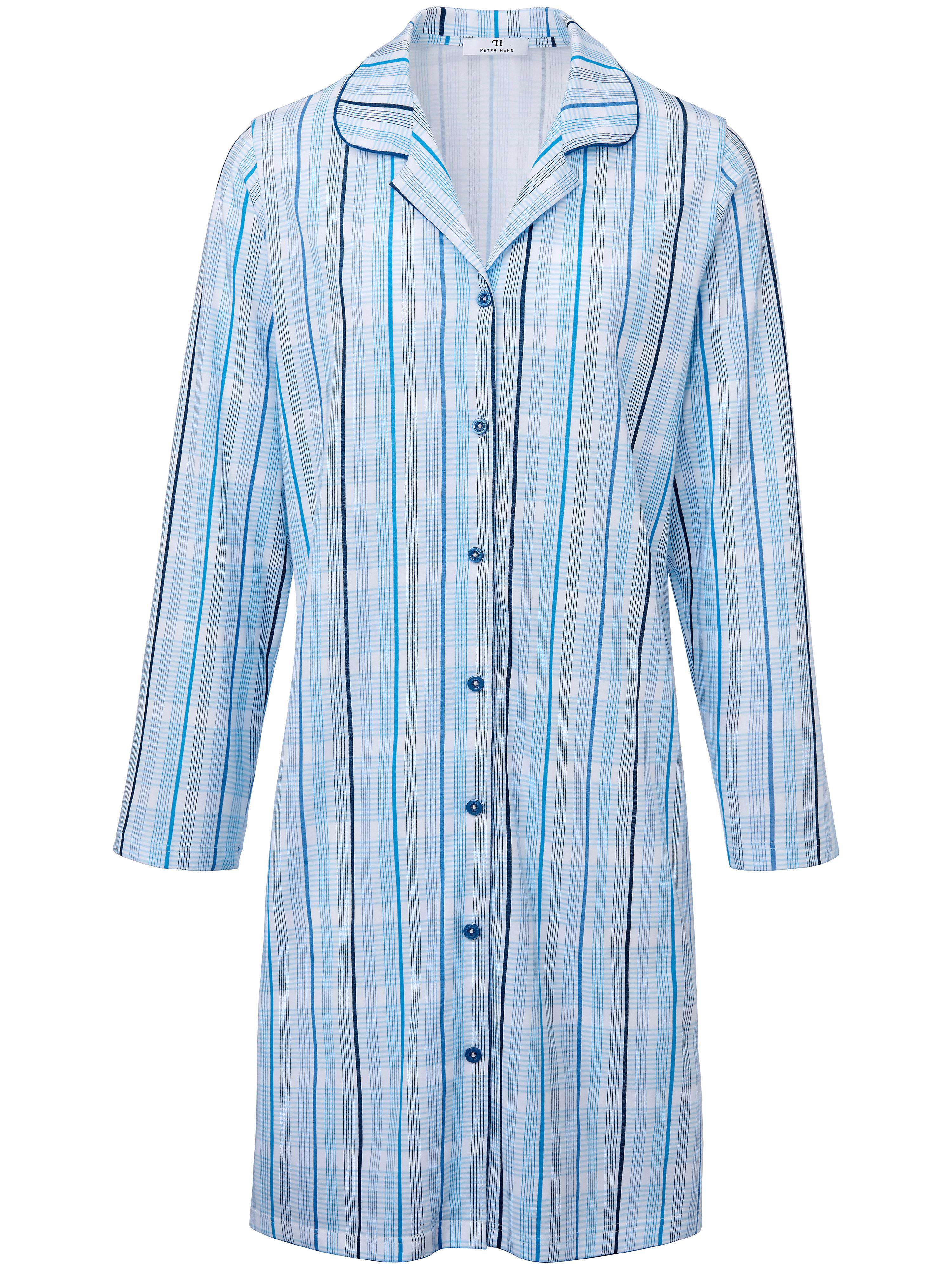 La chemise nuit 100% coton manches longues  Peter Hahn multicolore