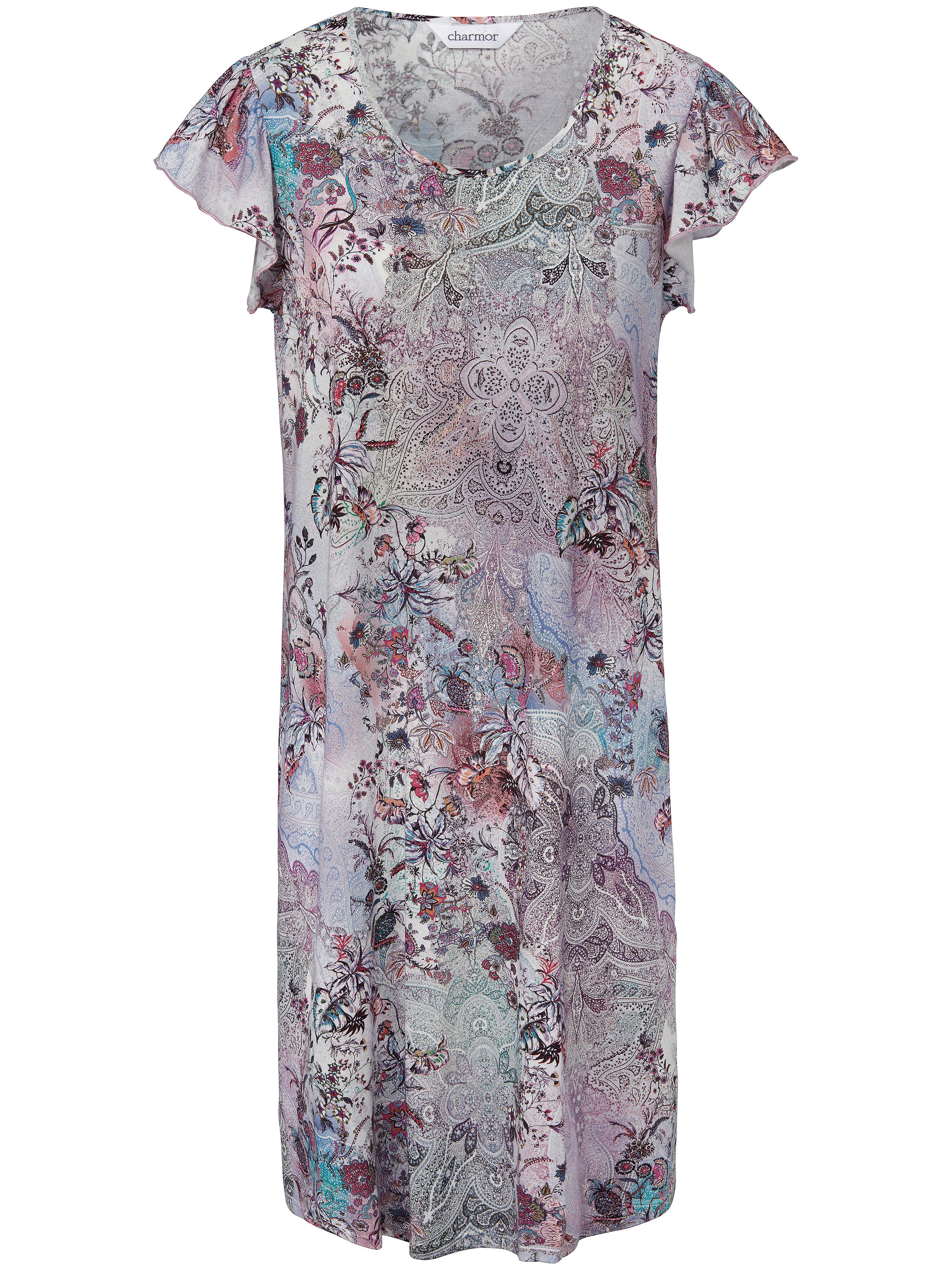 La chemise nuit manches courtes  Charmor multicolore