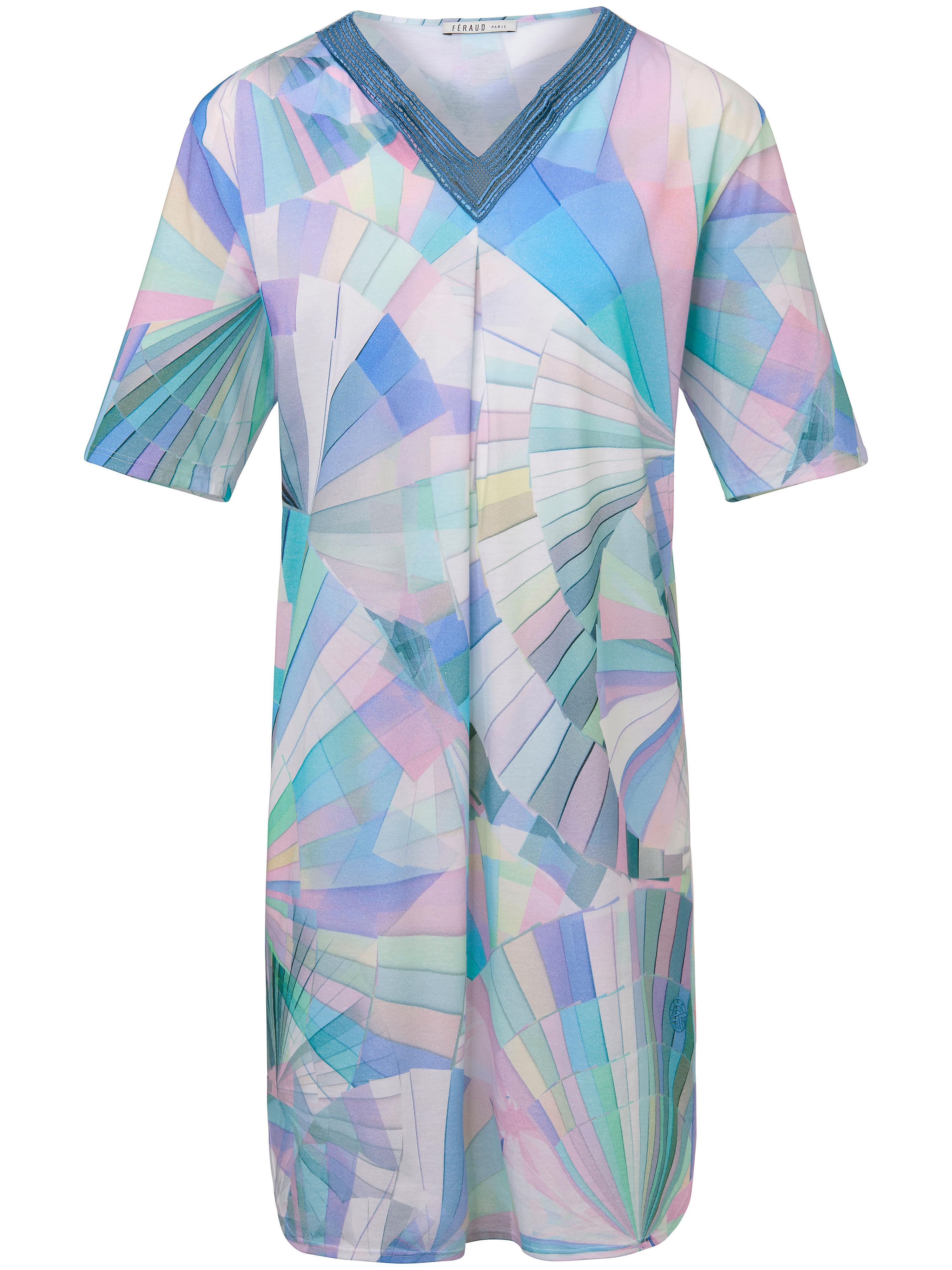 La chemise nuit manches courtes  Féraud multicolore
