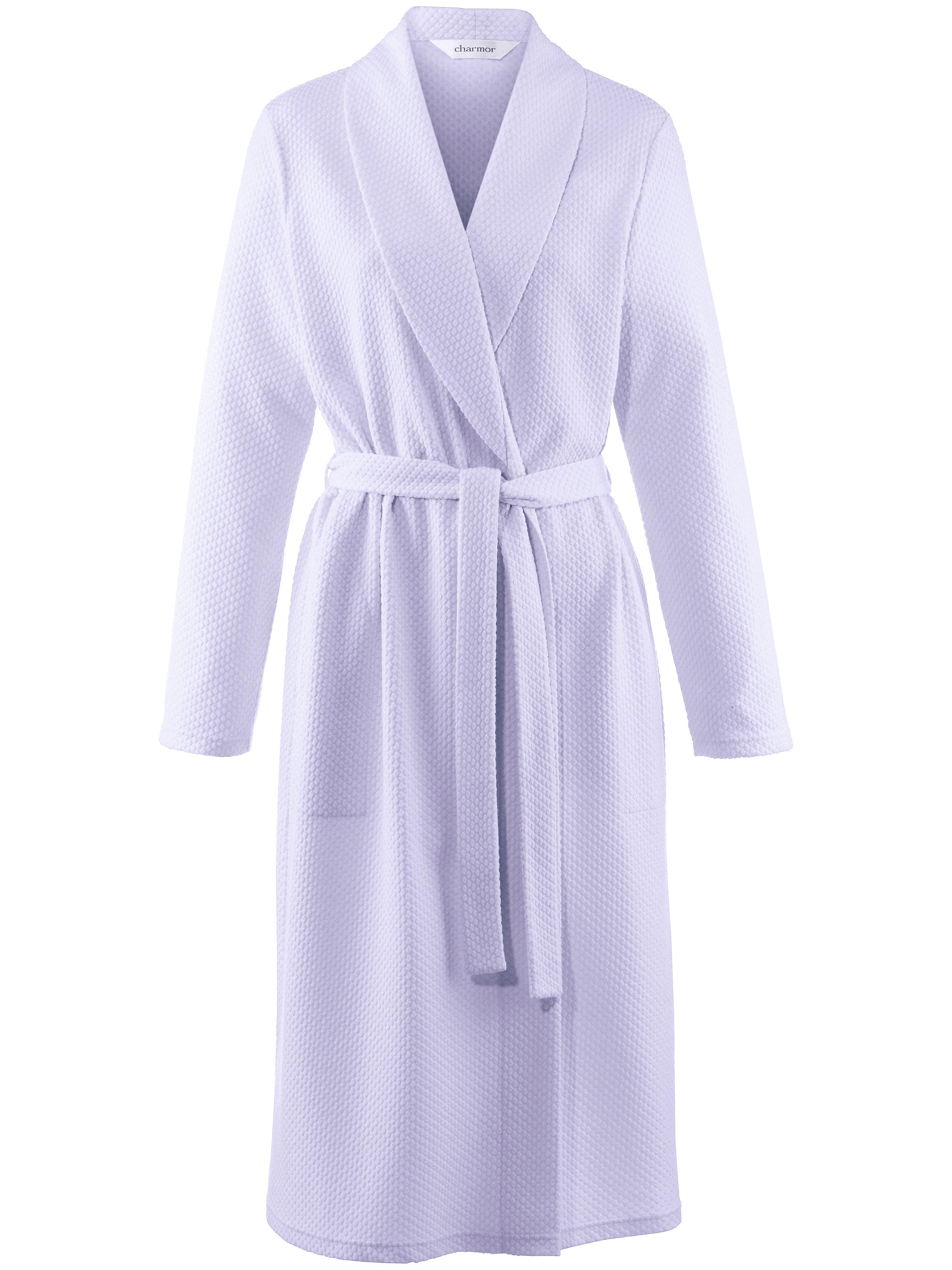 La robe chambre, col châle et ceinture à nouer  Charmor mauve