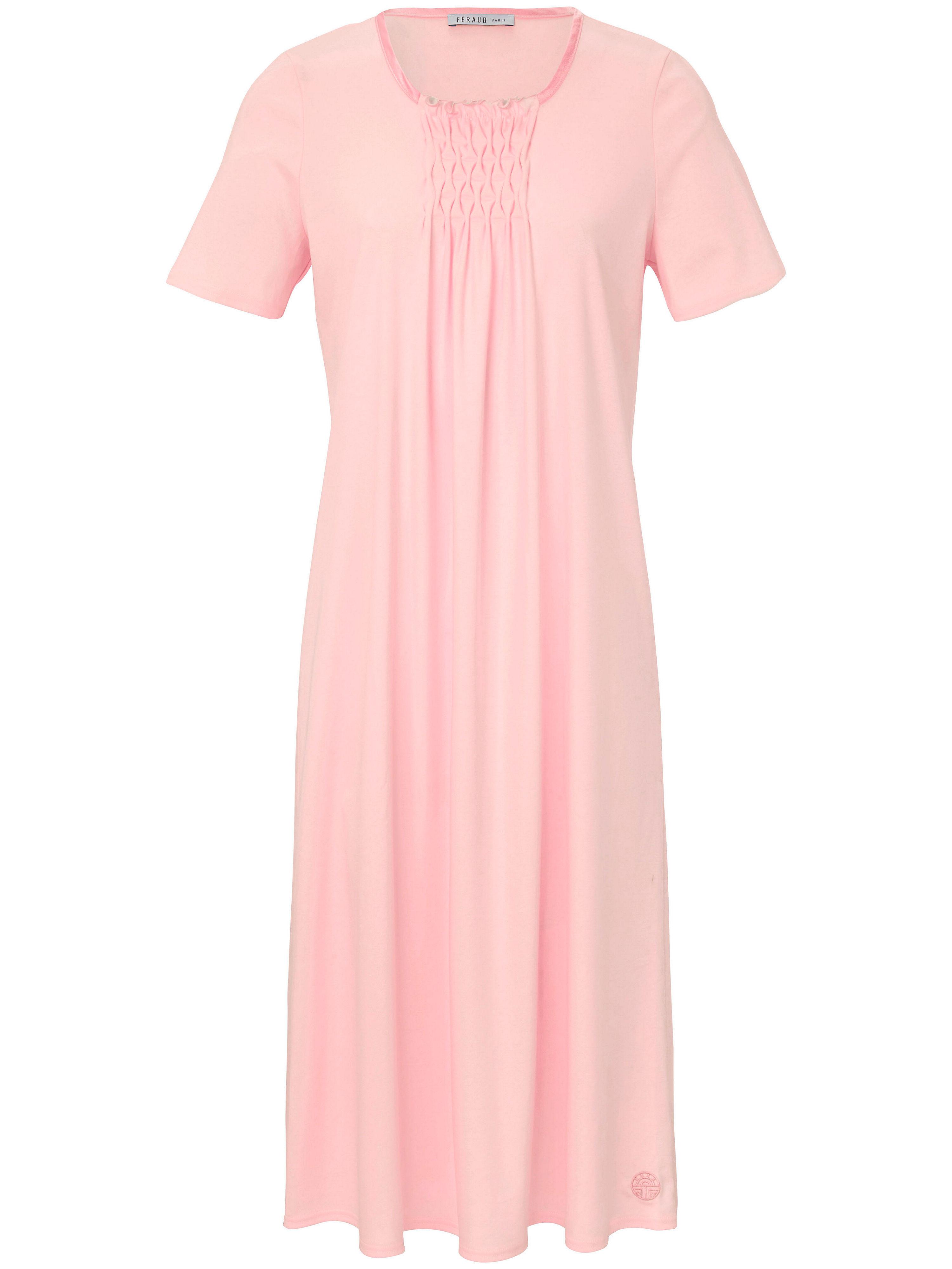 La chemise nuit pur coton, manches courtes  Féraud rose taille 40
