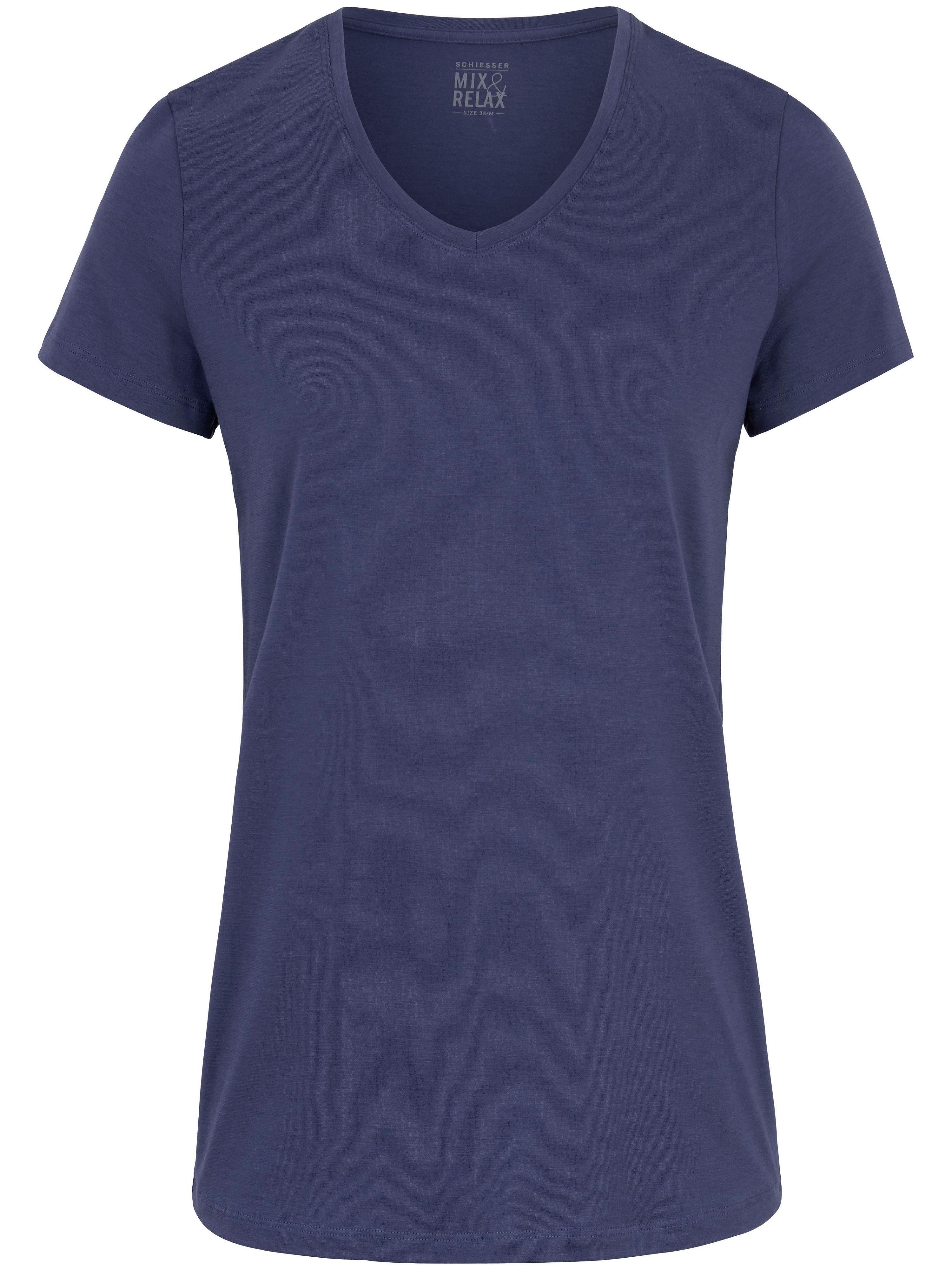 Le T-shirt décolleté V  Schiesser bleu