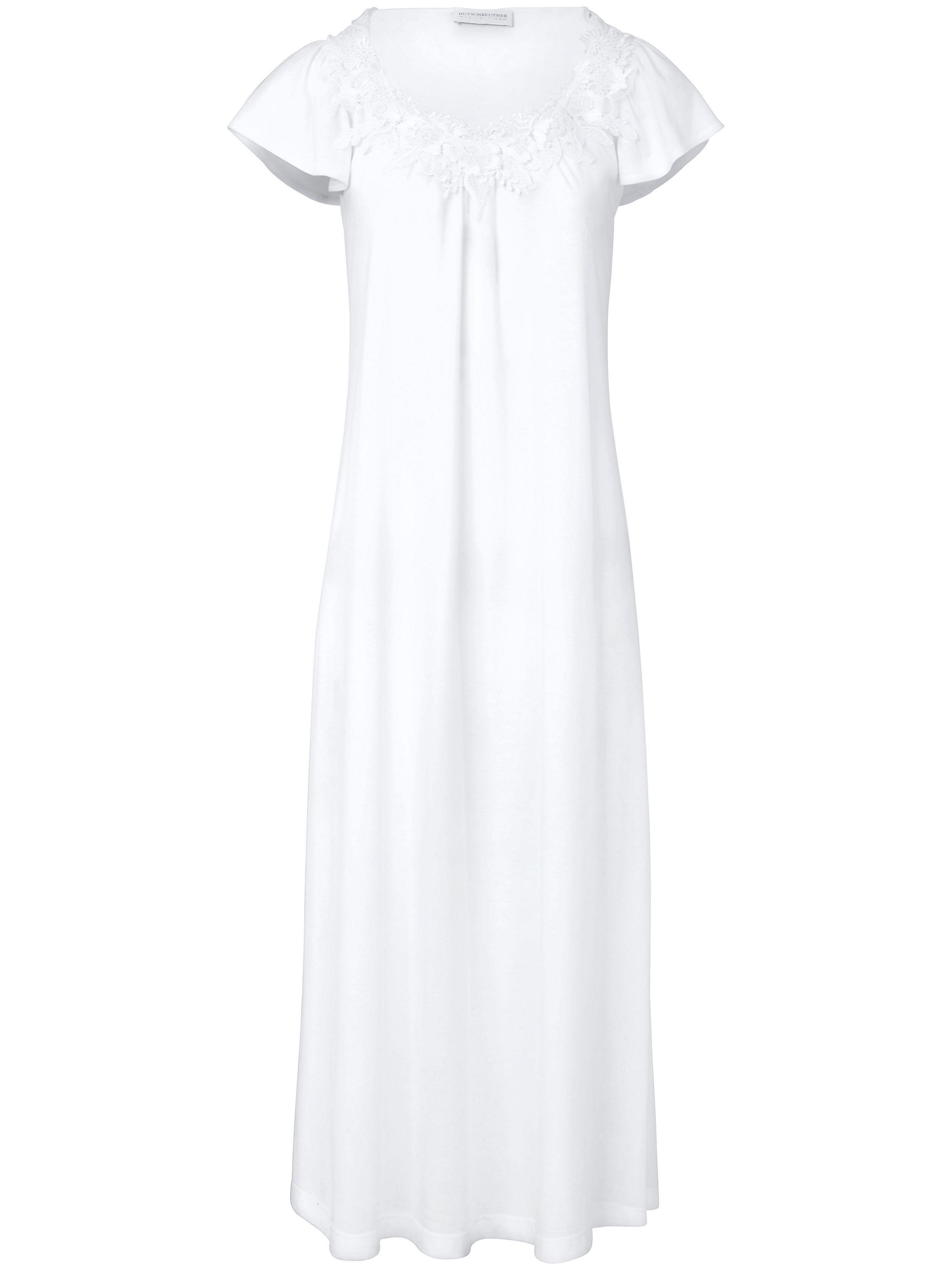 La chemise nuit unie, manches courtes  Hutschreuther blanc taille 44