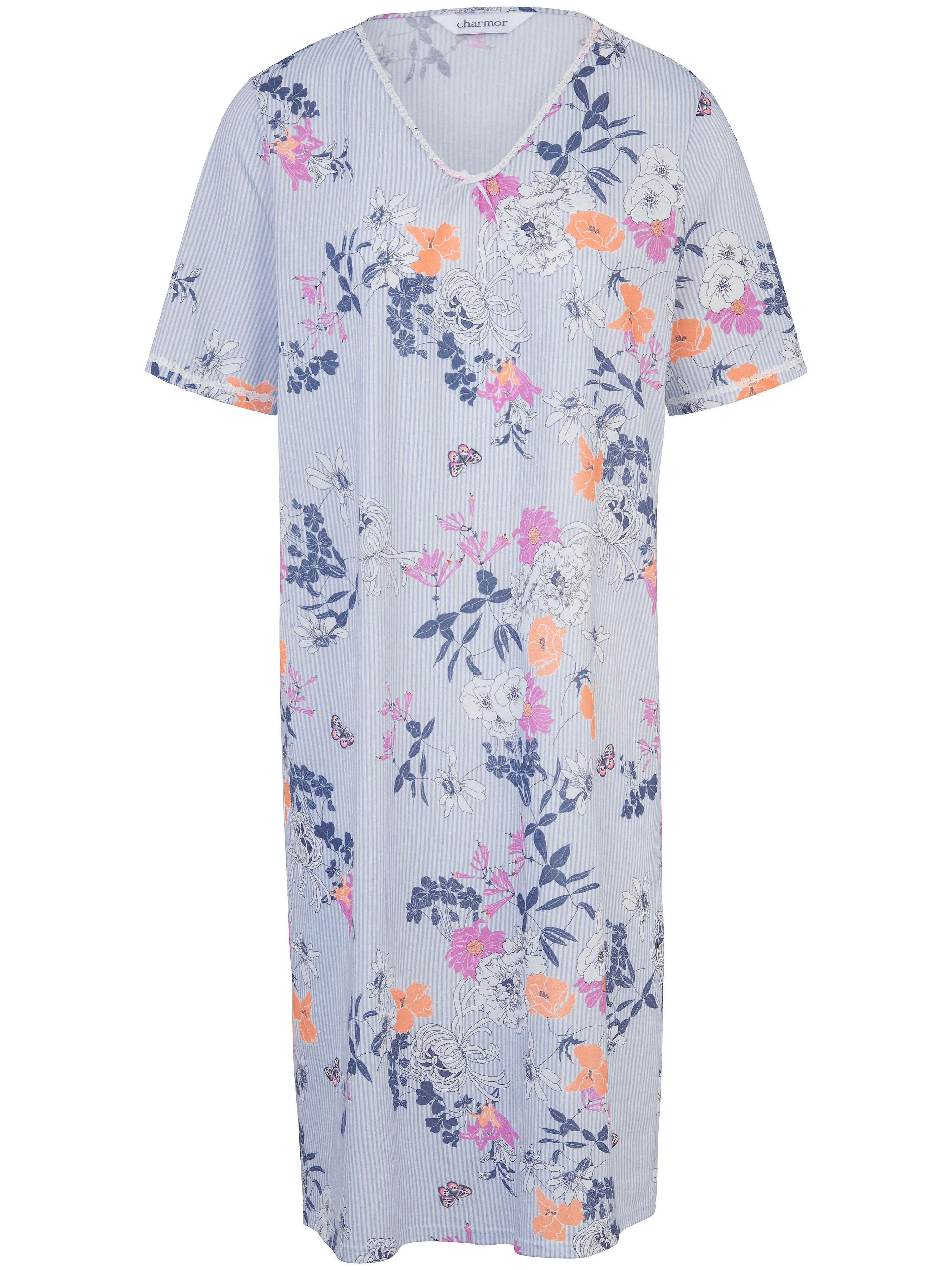La chemise nuit imprimée, manches courtes  Charmor multicolore