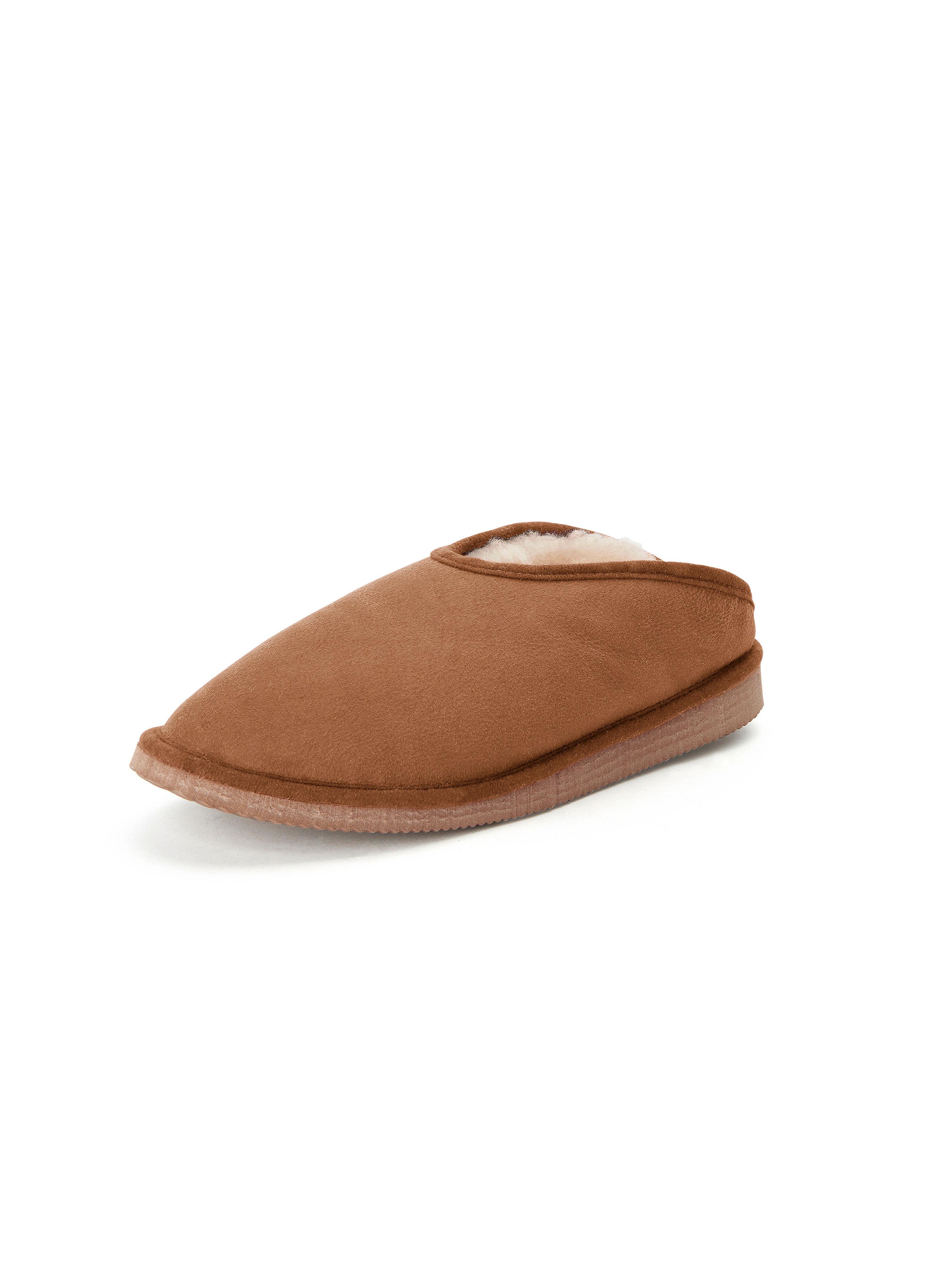 Les chaussons Fatima agneau lainé Kitzpichler marron taille 37