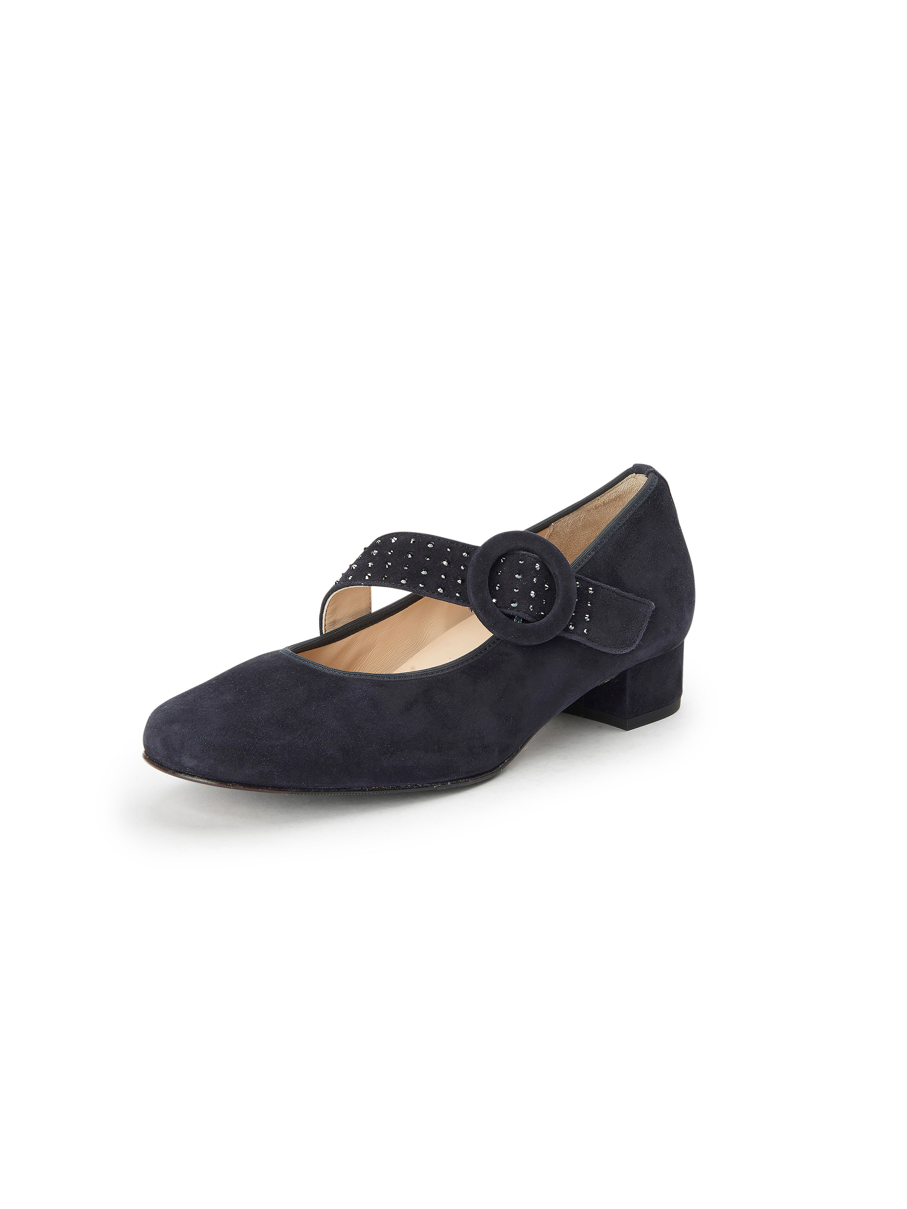 Spangen-Pumps Cordoba K aus 100% Leder Hassia blau | Schuhe > Pumps > Spangenpumps | Hassia