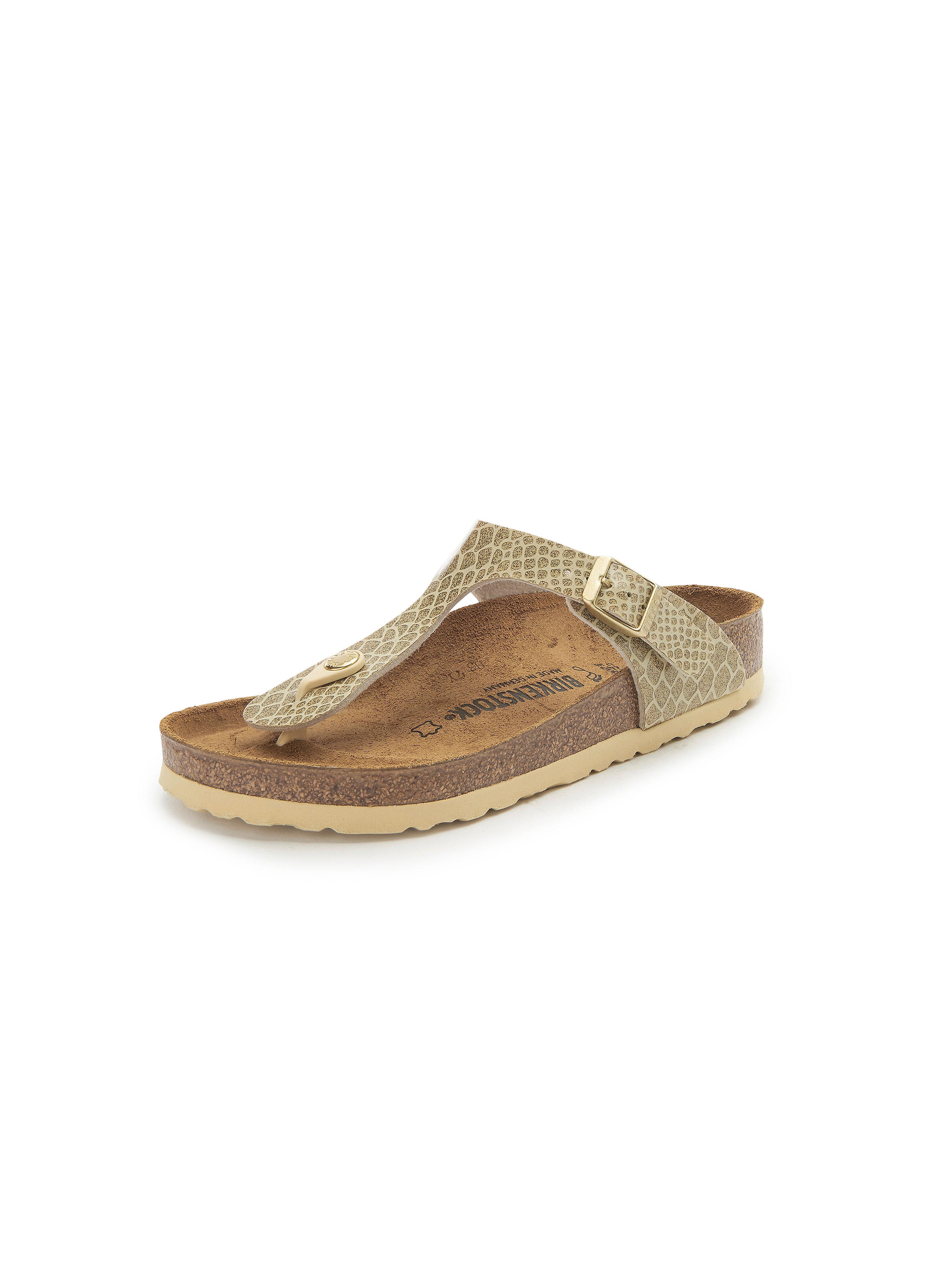 Zehentrenner-Pantolette Gizeh Birkenstock gold | Schuhe > Sandalen & Zehentrenner > Zehentrenner | Latex | Birkenstock
