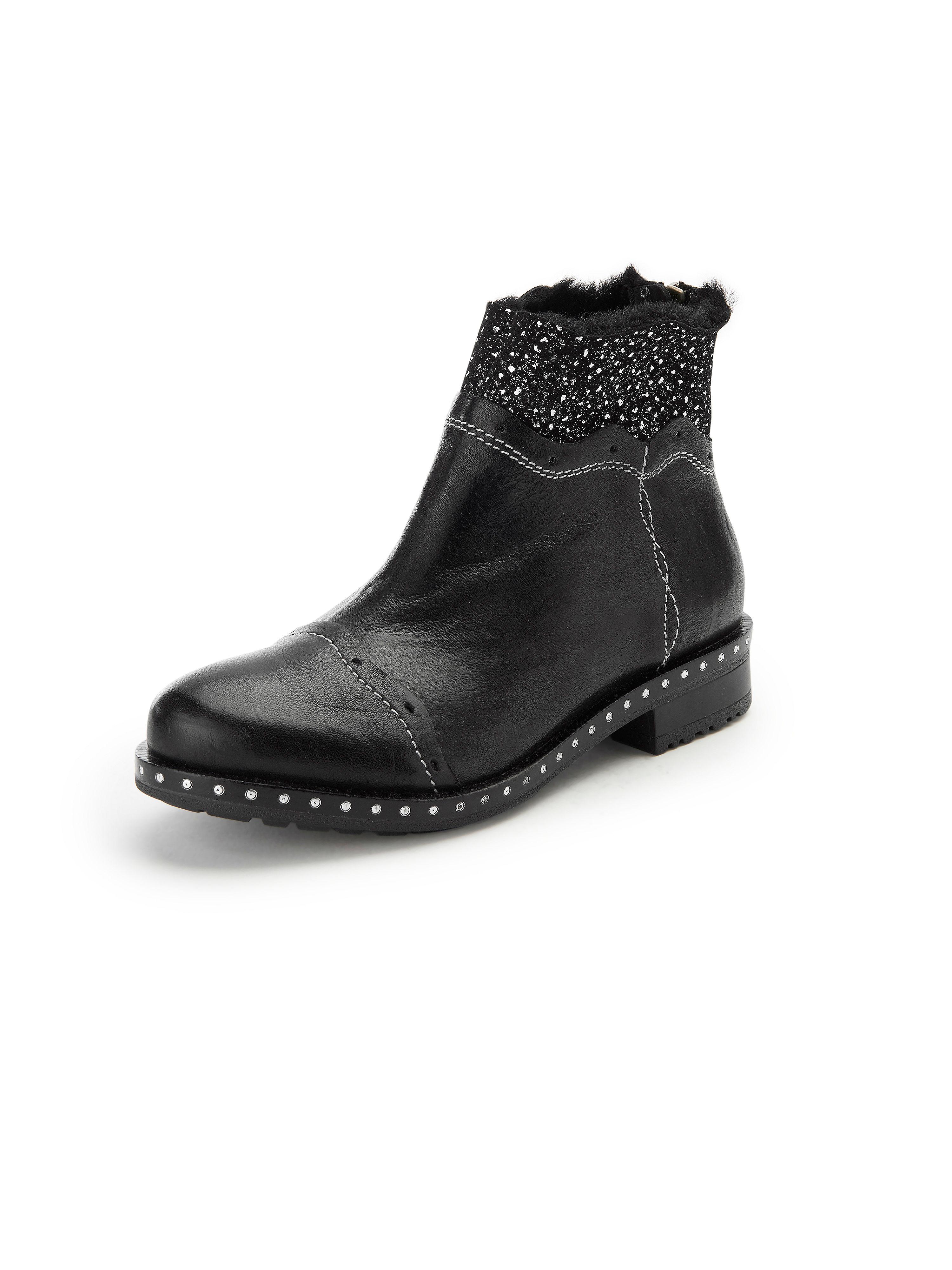 Les bottines Wiebke cuir nappa  iiM77 noir taille 37