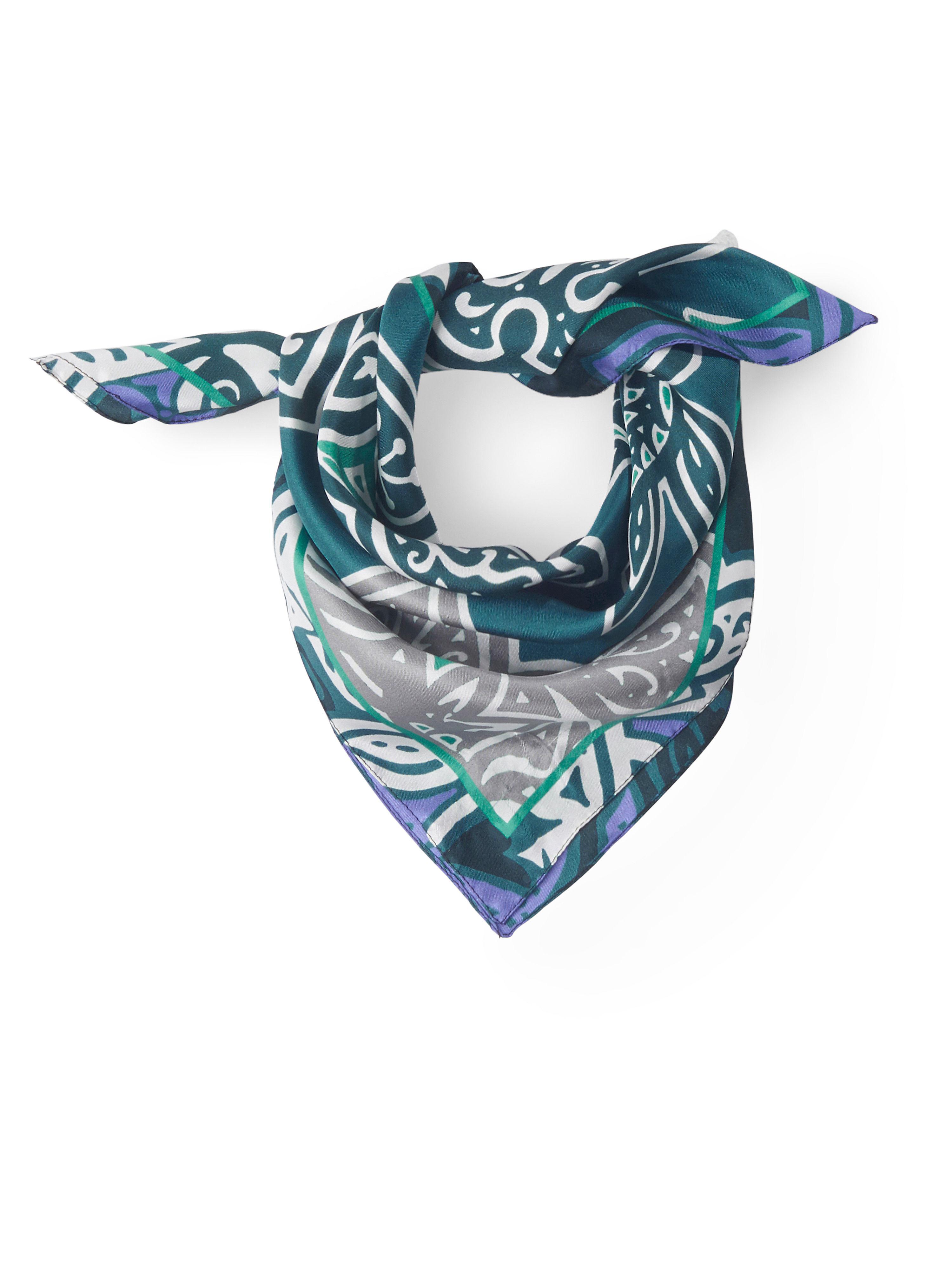 Nicki-Tuch aus 100%Seide Peter Hahn mehrfarbig: Nicki-Tuch aus 100%Seide Peter Hahn mehrfarbig für Damen und Herren