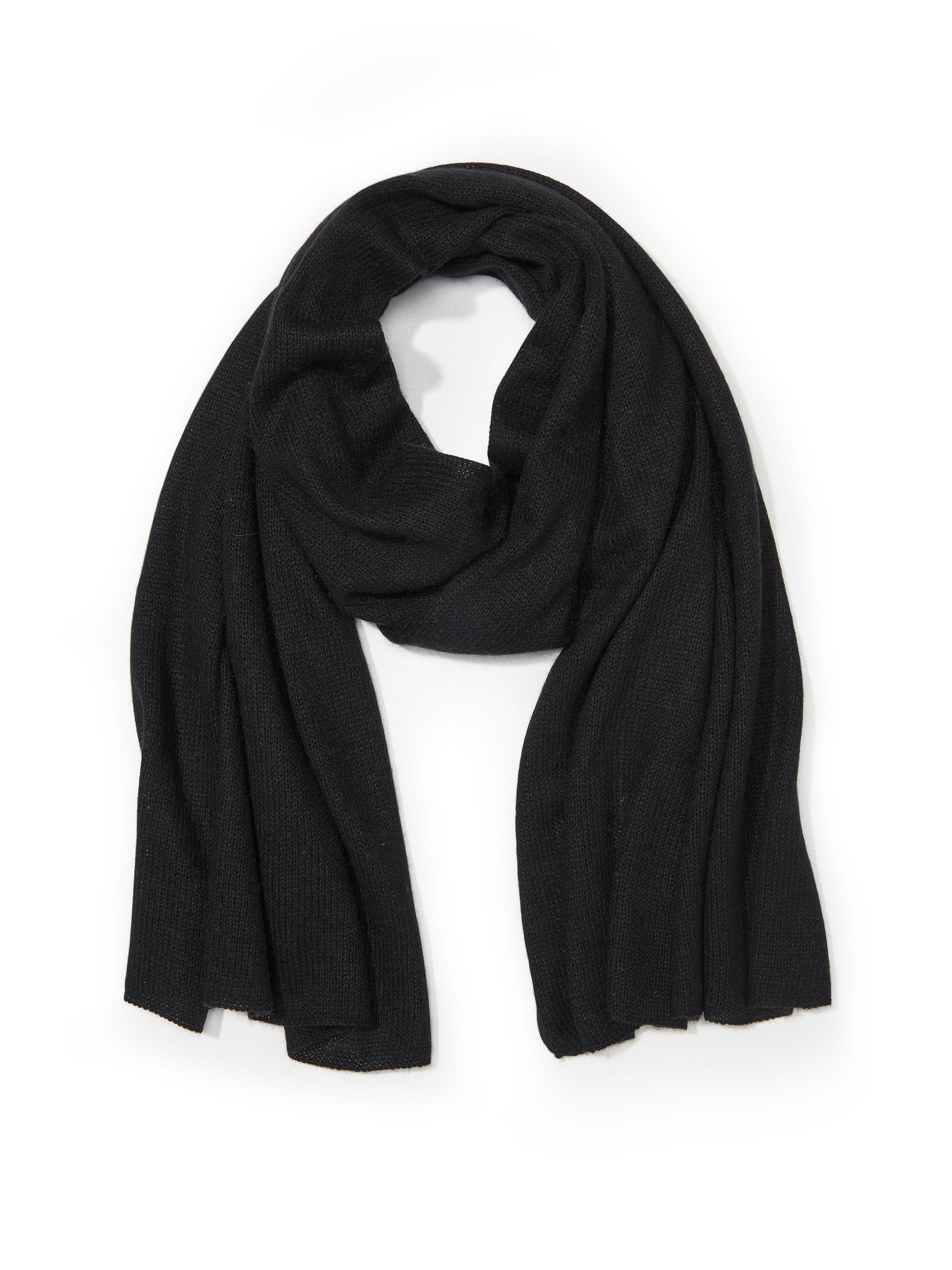 Schal aus Seide Kaschmir Peter Hahn schwarz: Schal aus Seide Kaschmir Peter Hahn schwarz für Damen und Herren in schwarz