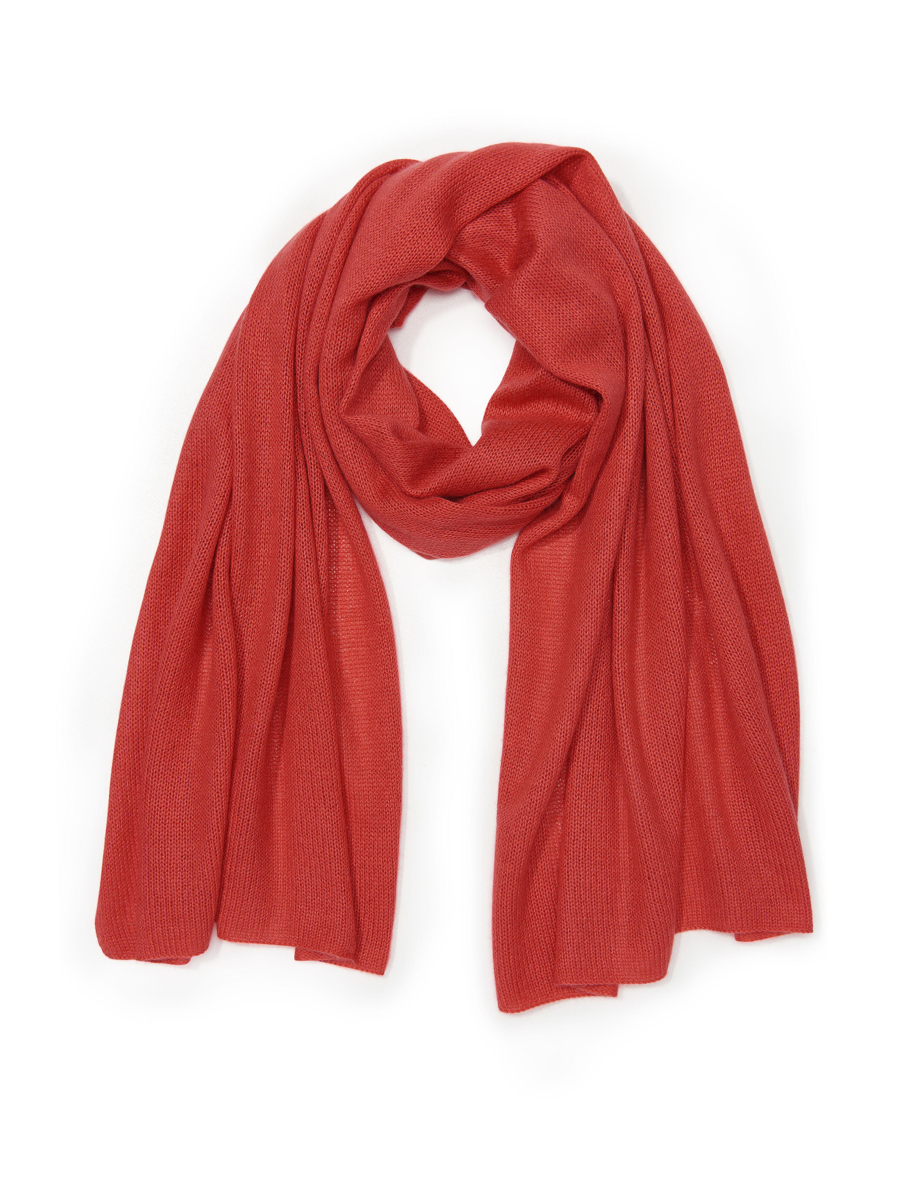 Schal aus Seide Kaschmir Peter Hahn rot: Schal aus Seide Kaschmir Peter Hahn rot für Damen und Herren in rot
