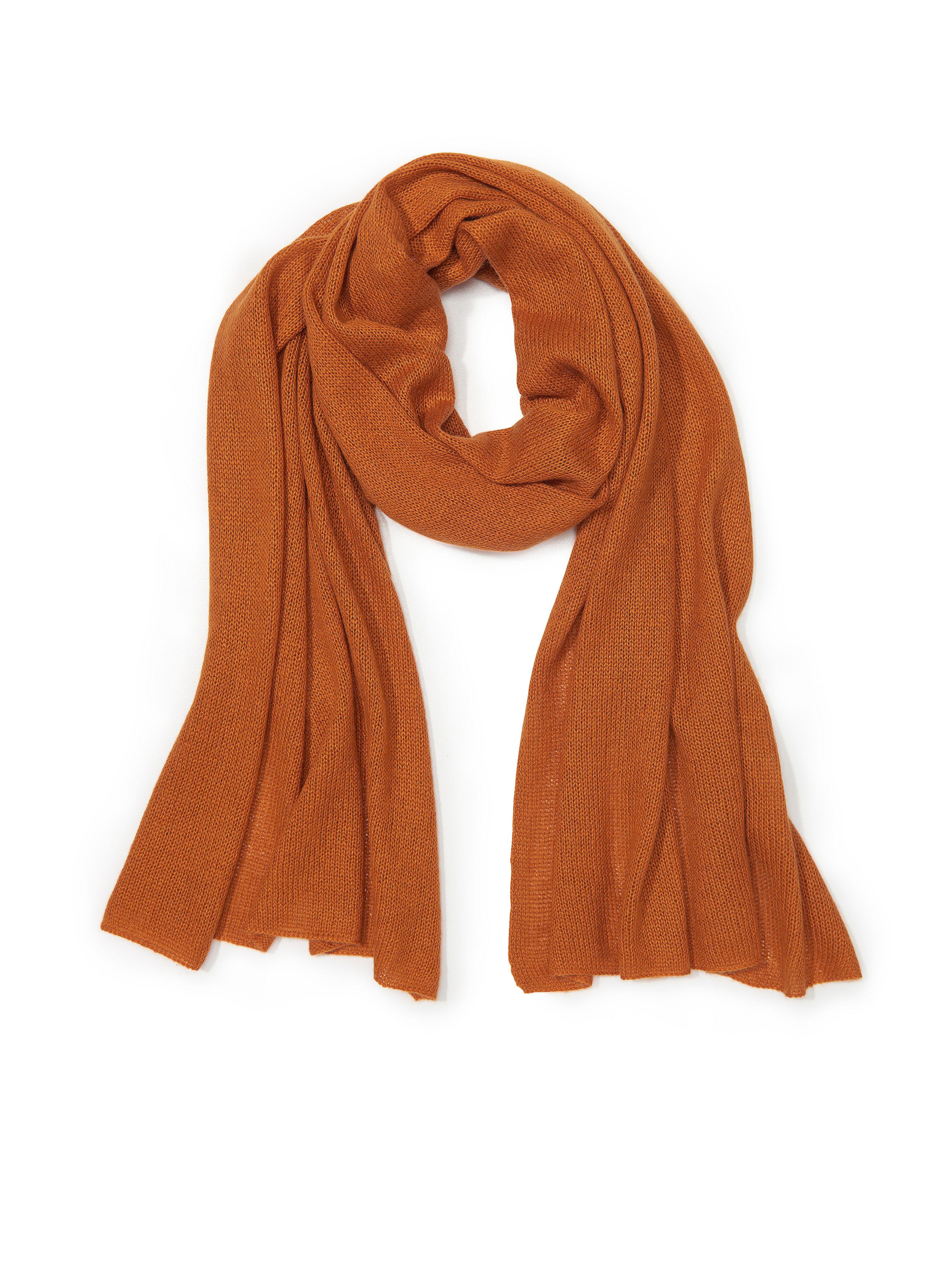 Schal aus Seide Kaschmir Peter Hahn orange: Schal aus Seide Kaschmir Peter Hahn orange für Damen und Herren in orange