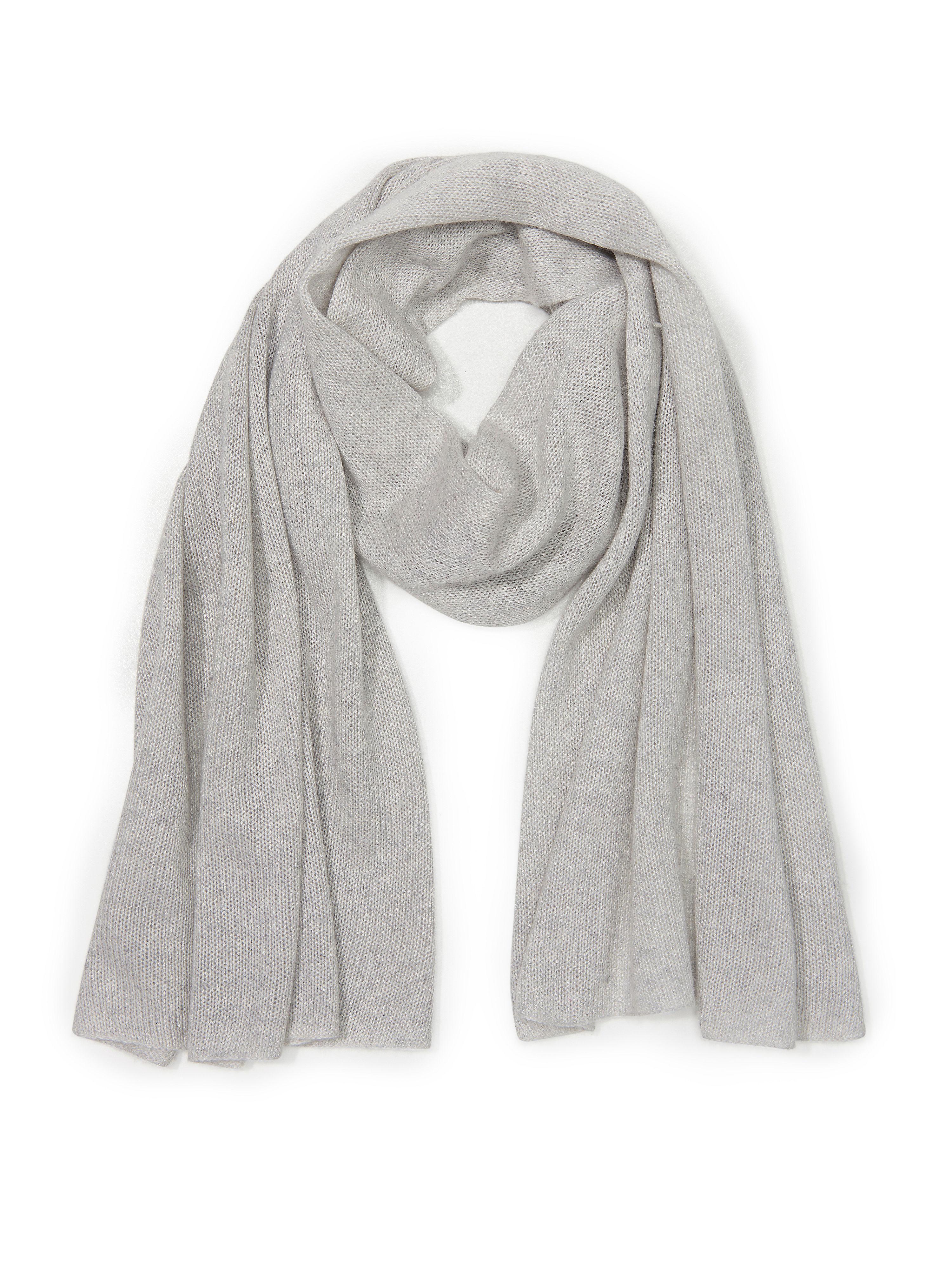 Schal aus Seide Kaschmir Peter Hahn grau: Schal aus Seide Kaschmir Peter Hahn grau für Damen und Herren in grau