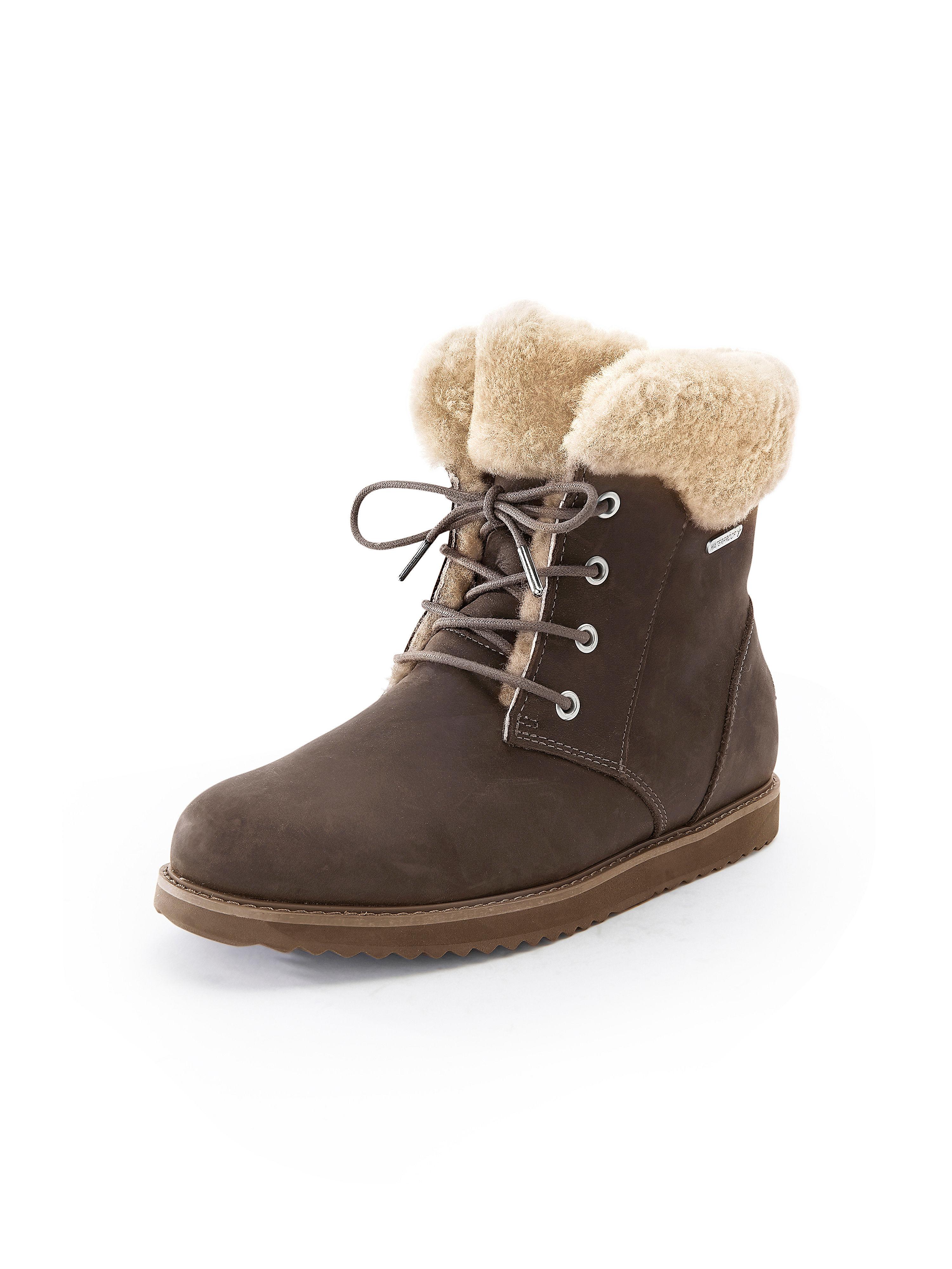 Les bottines 100% cuir  Emu marron taille 37