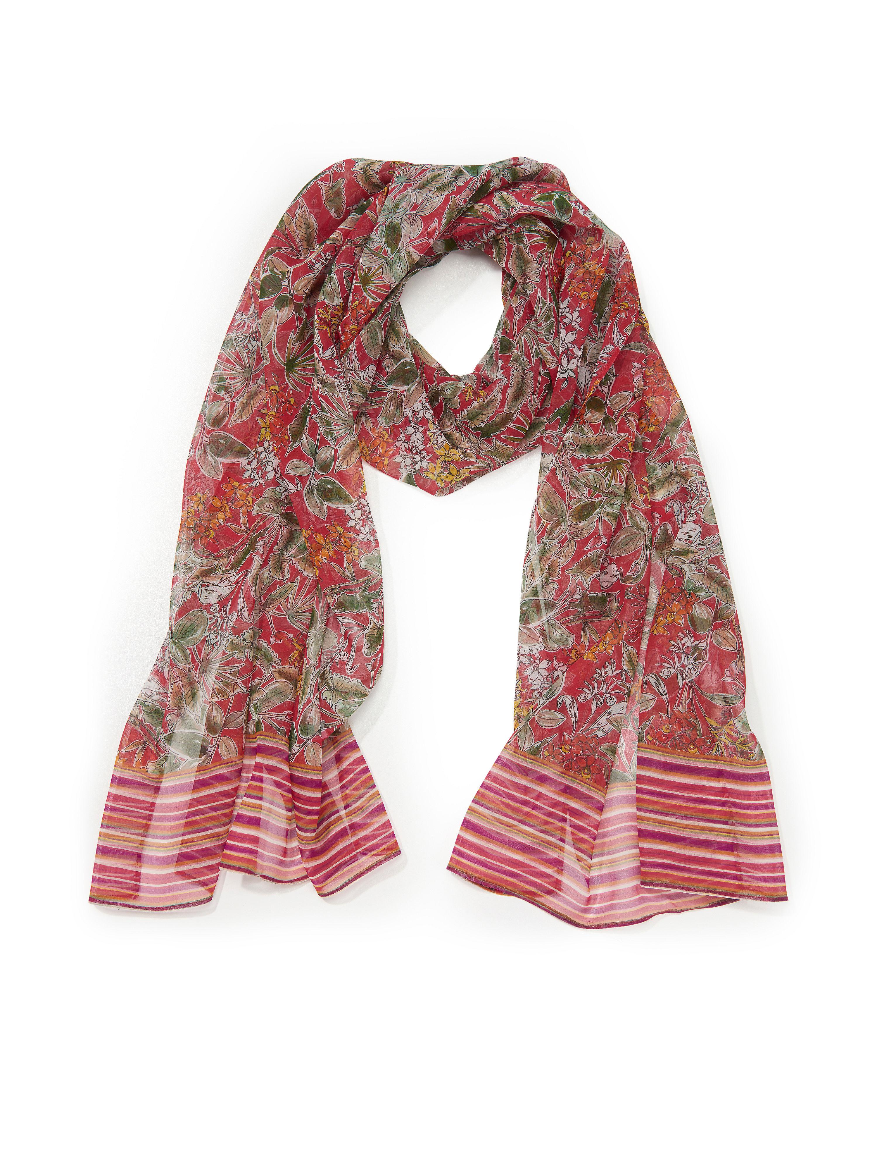 Schal aus 100% Seide Uta Raasch rot: Schal aus 100% Seide Uta Raasch rot für Damen und Herren in rot