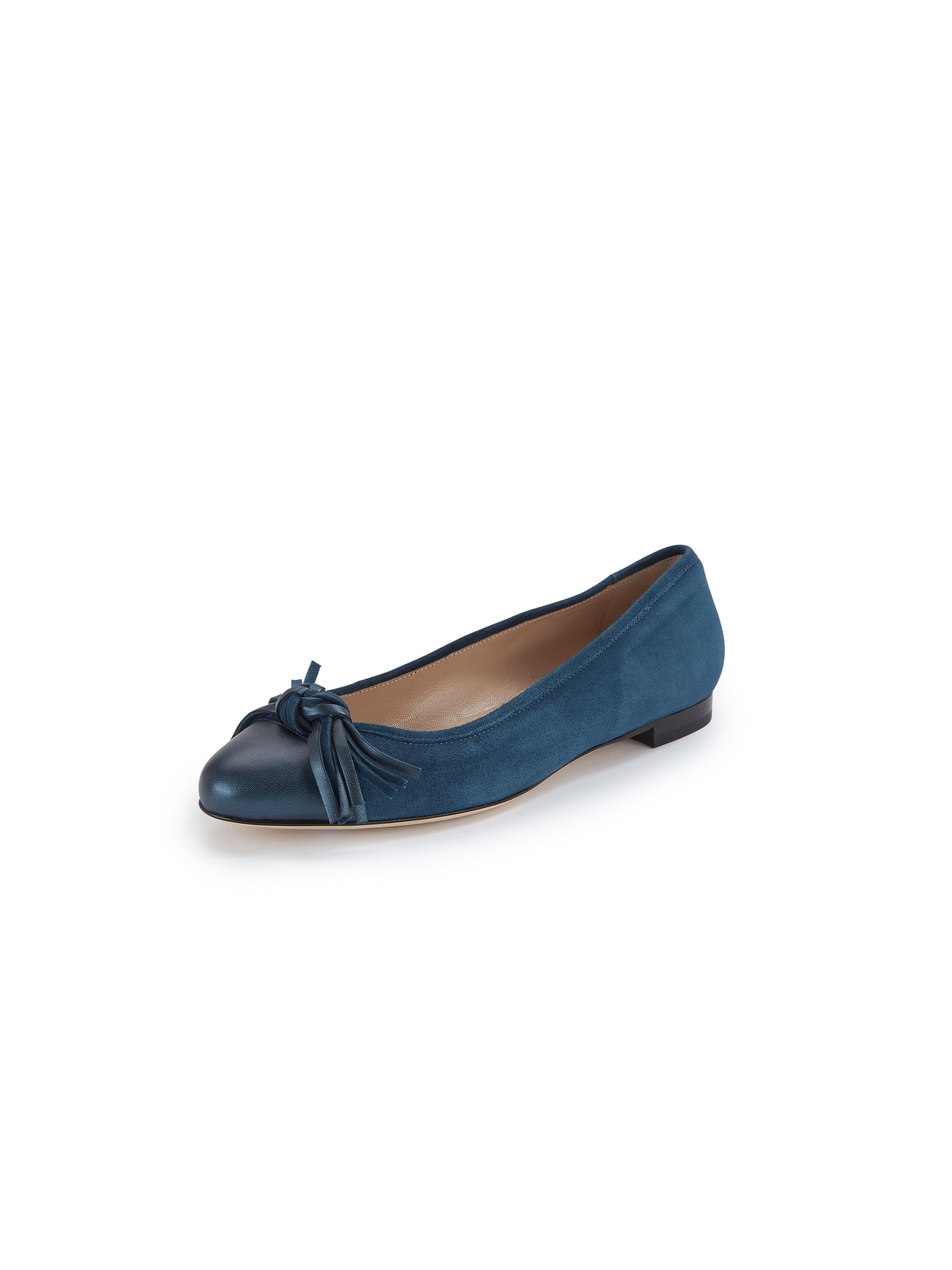 Peter Hahn Ballerinaskor i akta läder från Peter Hahn exquisit blå