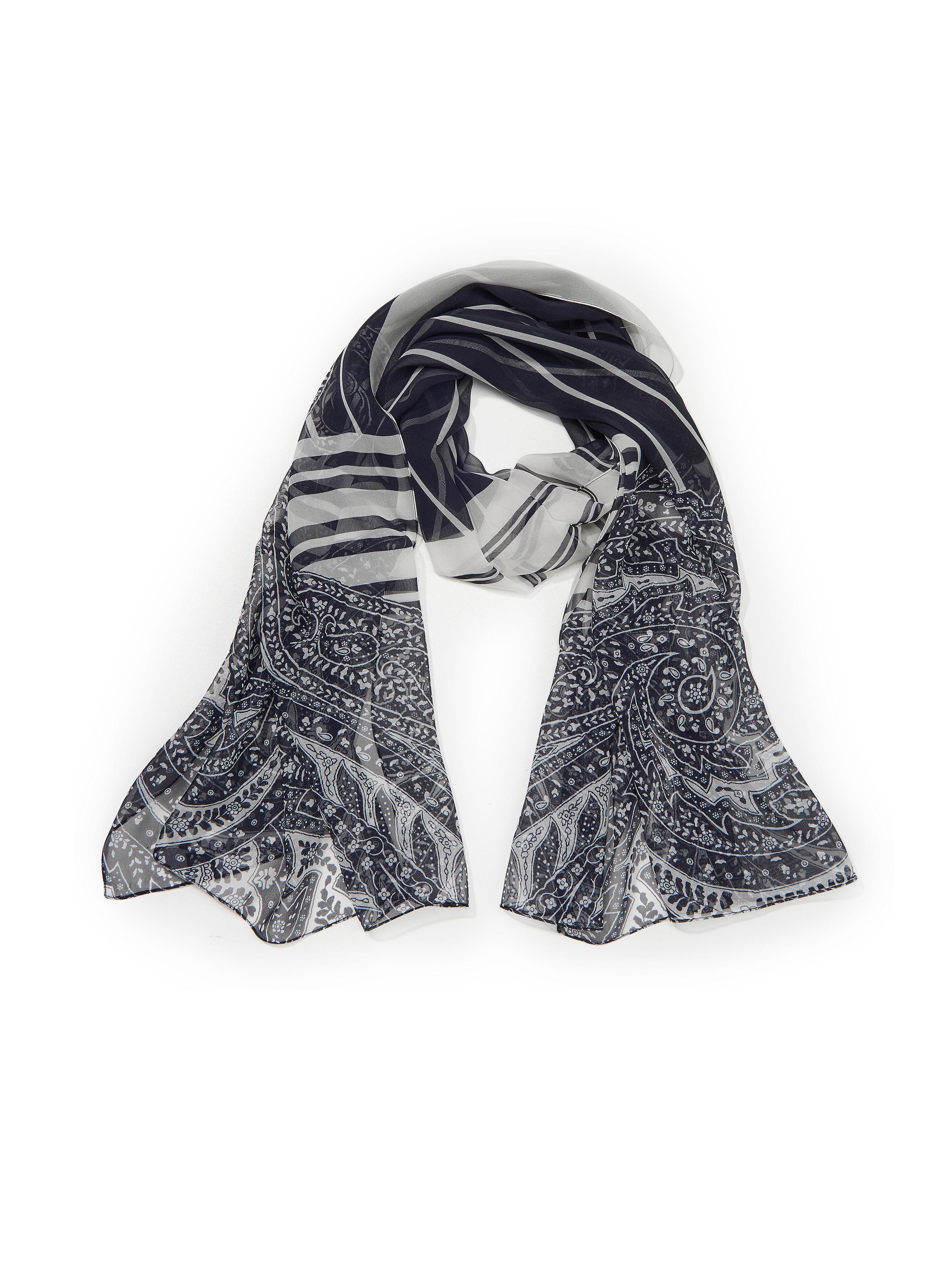 Schal aus 100% Seide Uta Raasch blau: Schal aus 100% Seide Uta Raasch blau für Damen und Herren in blau
