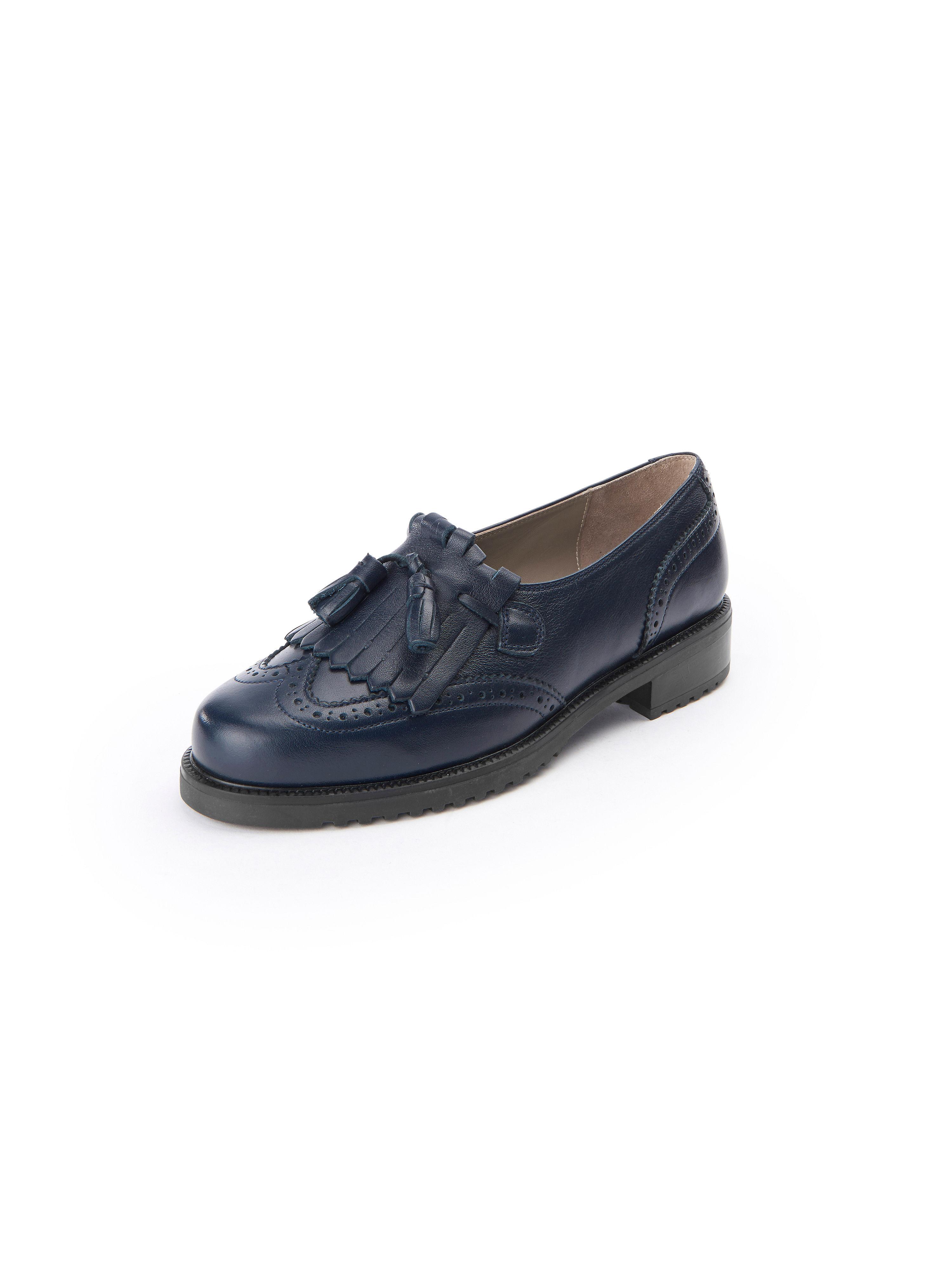 Les mocassins cuir nappa, modèle Ledoni Ledoni bleu taille 38