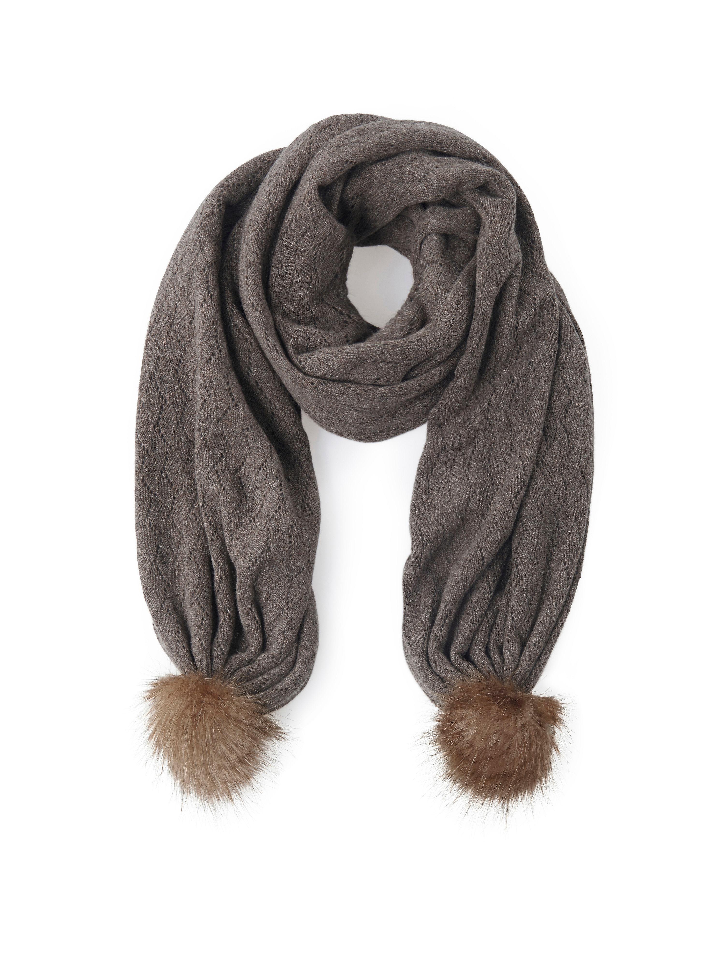 Image of   Halstørklæde i 100 % kashmir Fra Peter Hahn Cashmere brun