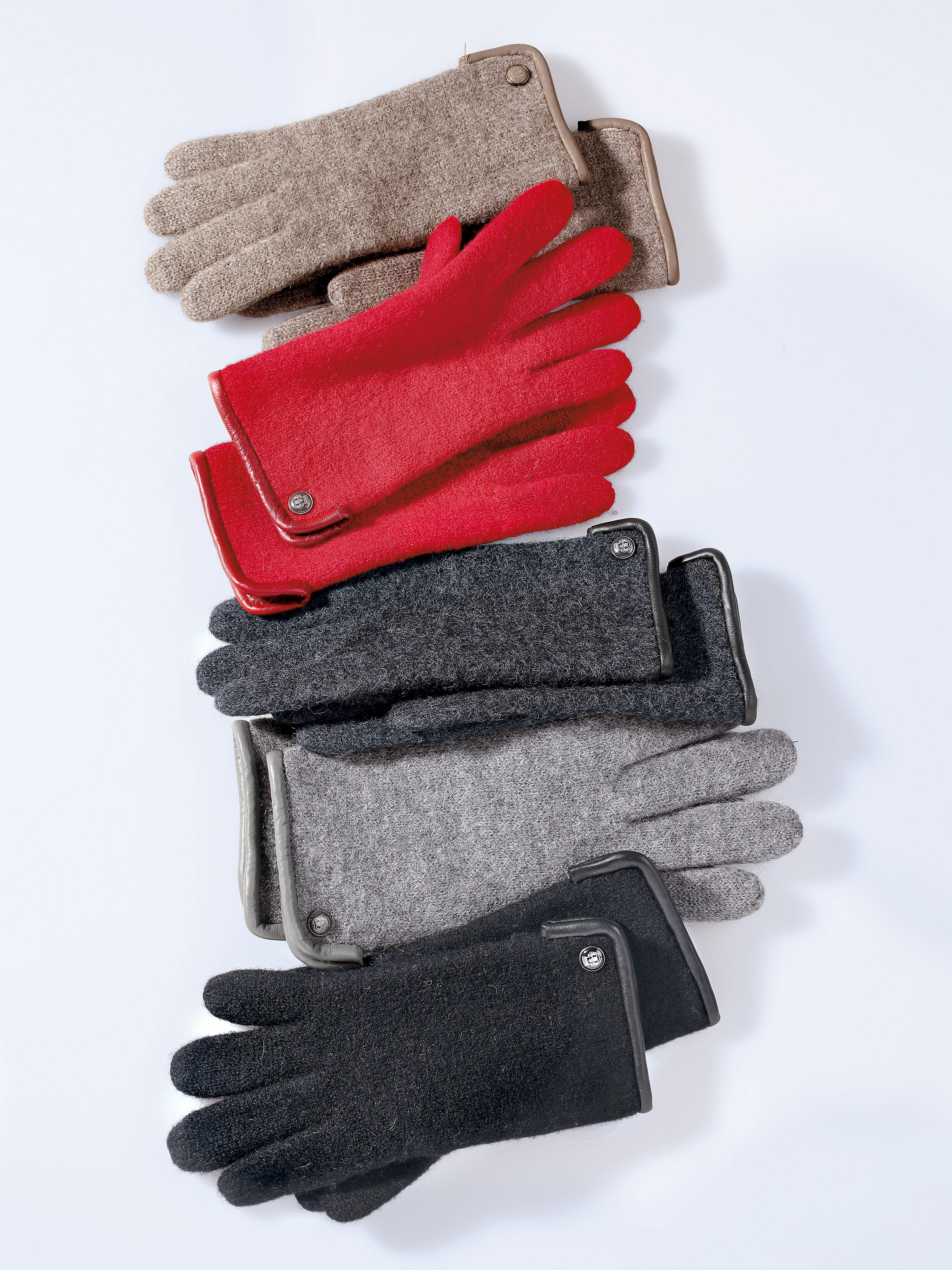 Image of   Handsker 100% ren ny uld Fra Roeckl rød