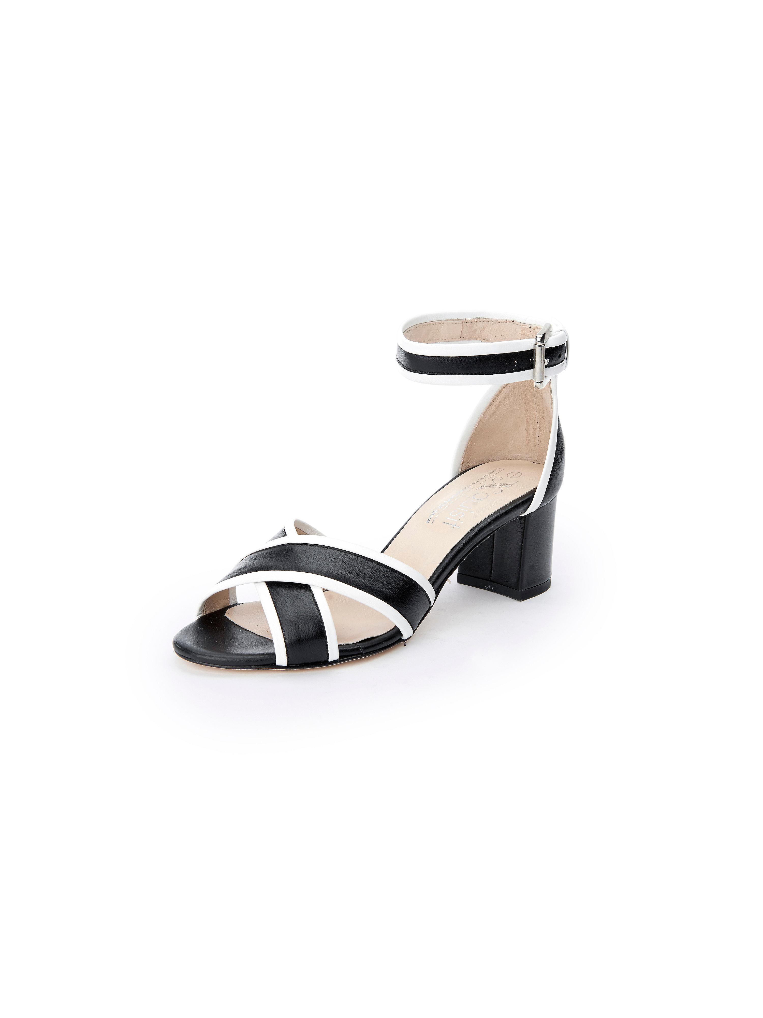 Les sandales cuir nappa, bride cheville Peter Hahn exquisit noir taille 42