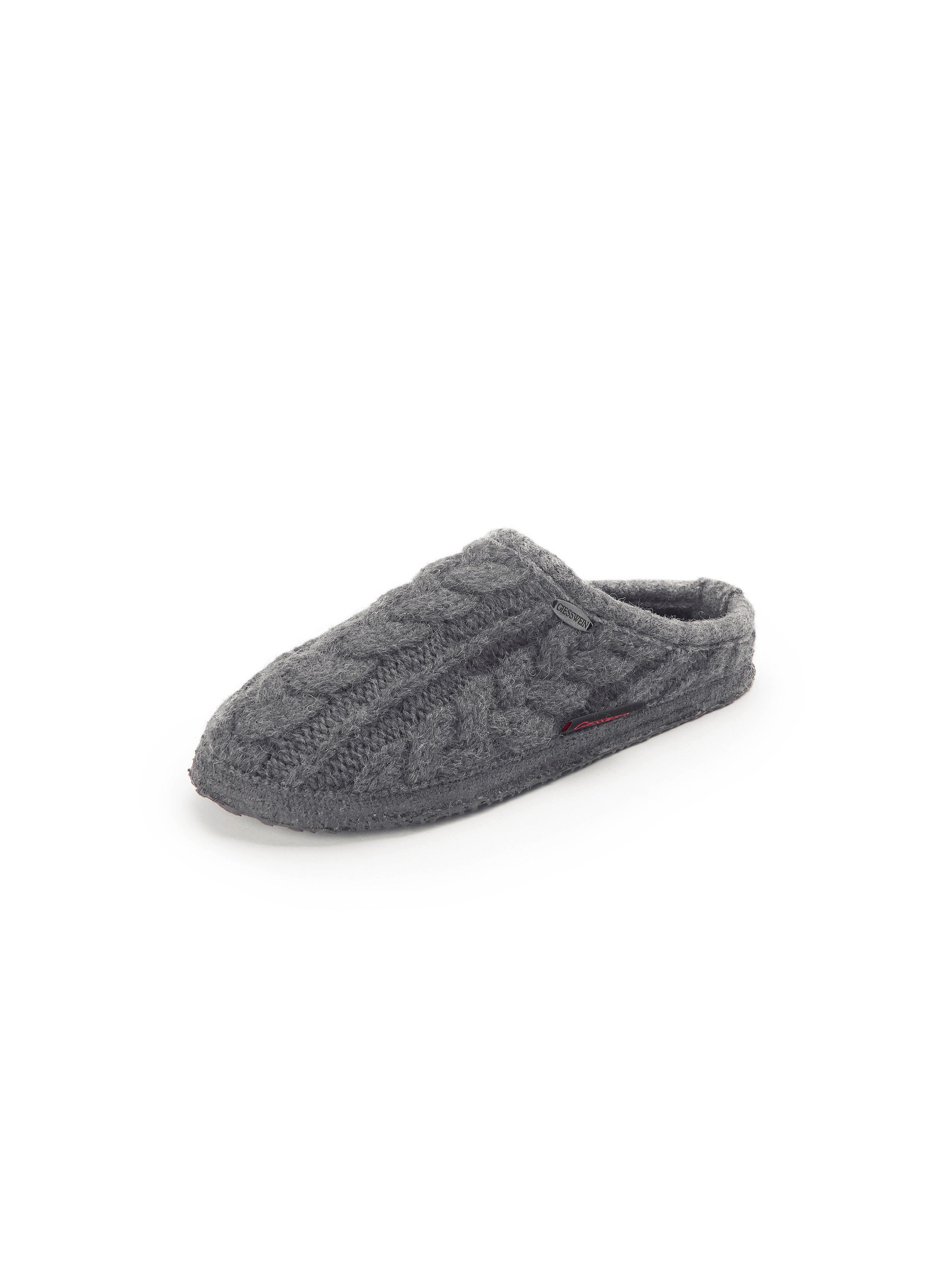Pantoffel Giesswein grau | Schuhe > Hausschuhe | Schurwolle | Giesswein