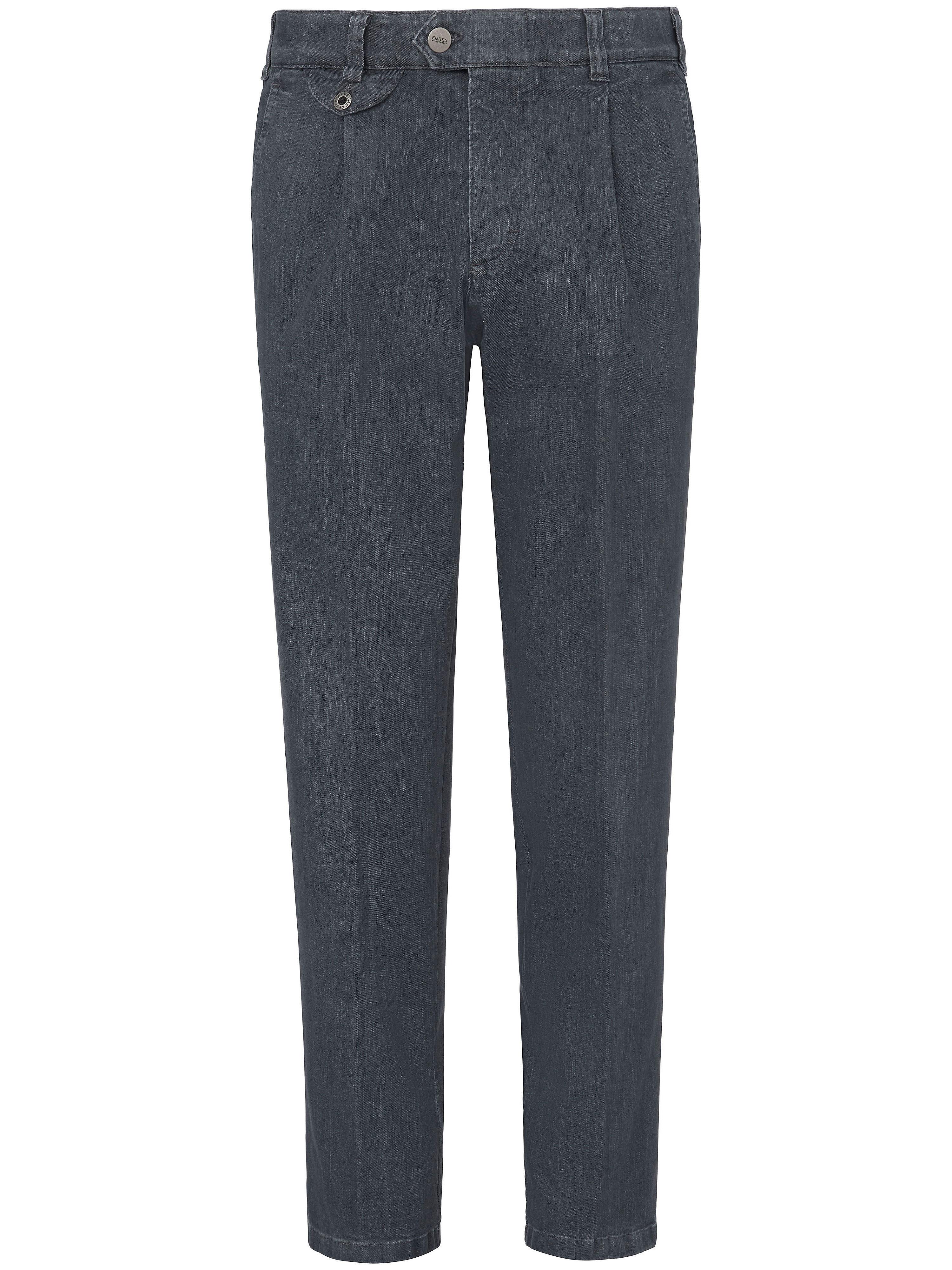 Bandplooi-jeans Van Eurex by Brax grijs