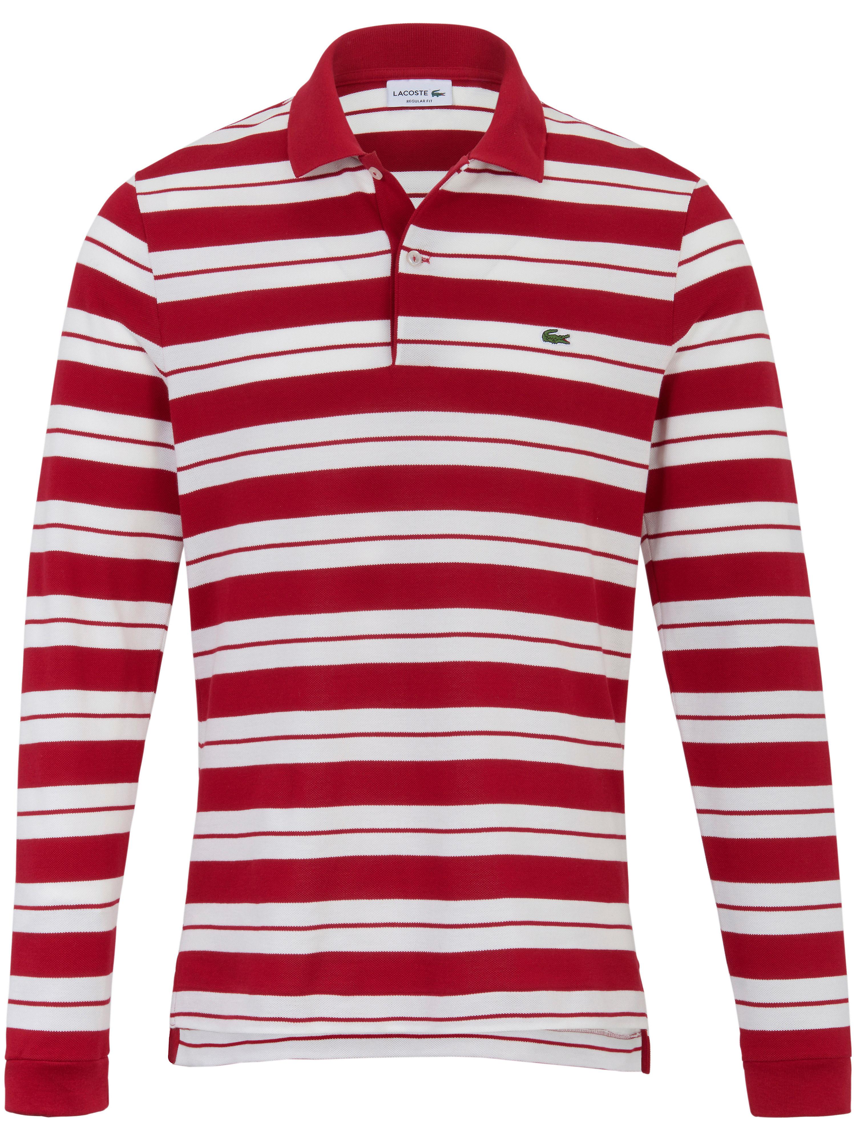 Image of   Poloshirt Form PH7128 maskuline striber Fra Lacoste rød