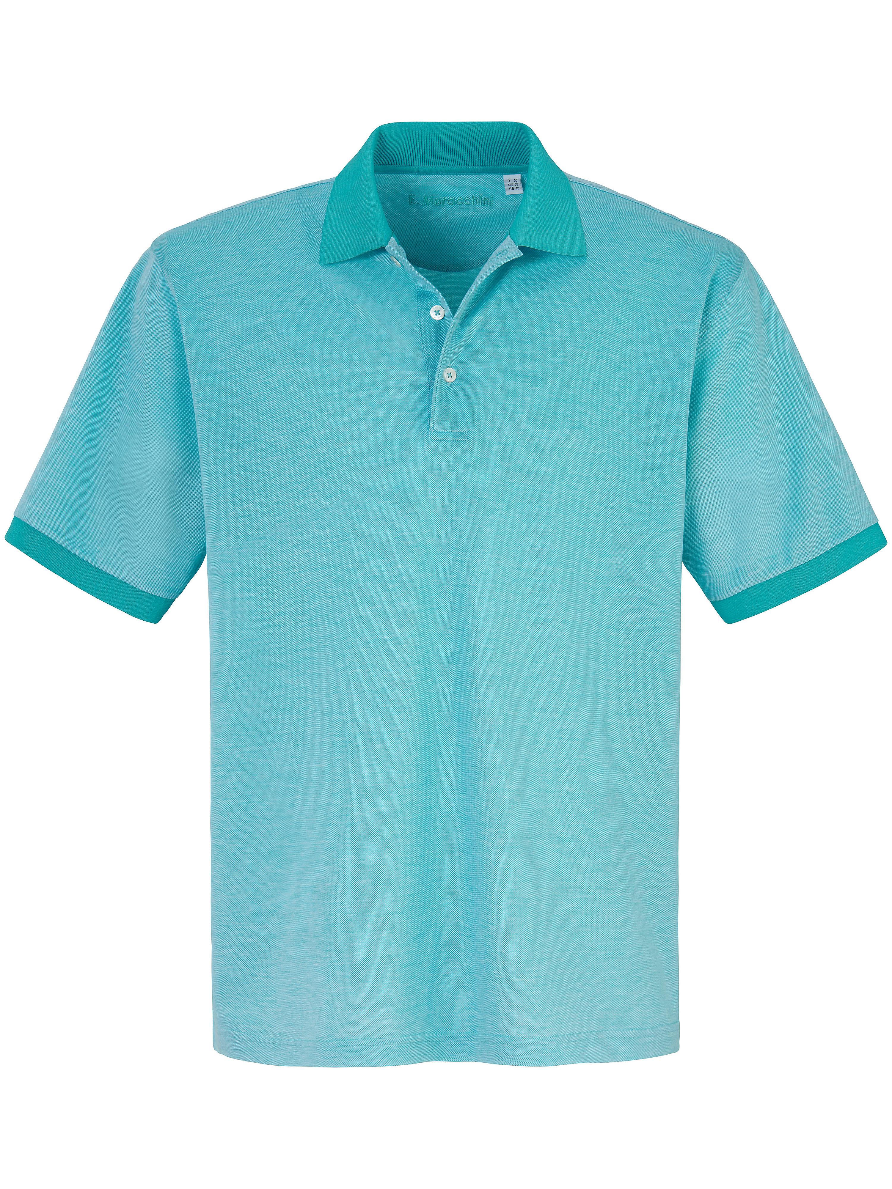 Le polo 100% coton  E.Muracchini turquoise