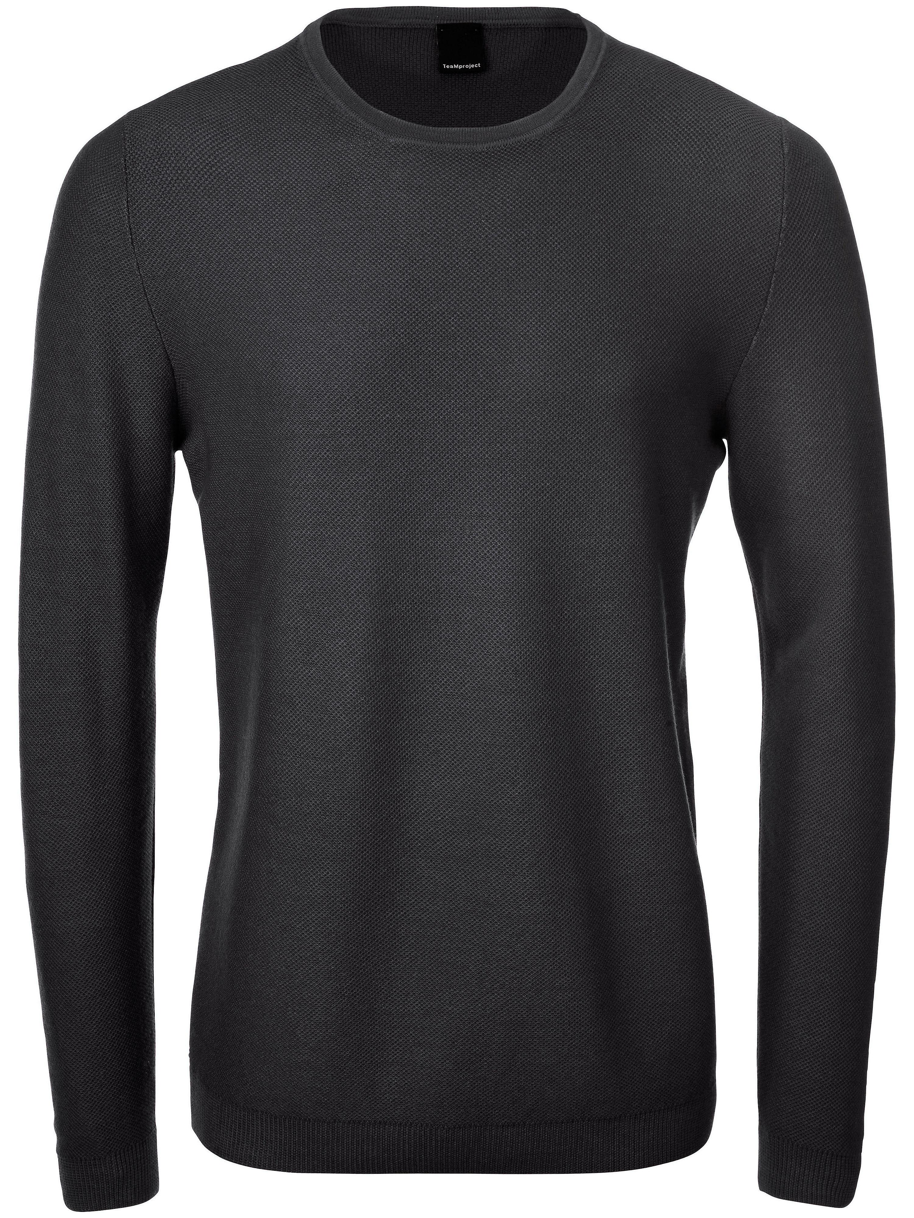 Image of   Bluse rund hals 100% ren ny uld Fra TEAMPROJECT grøn